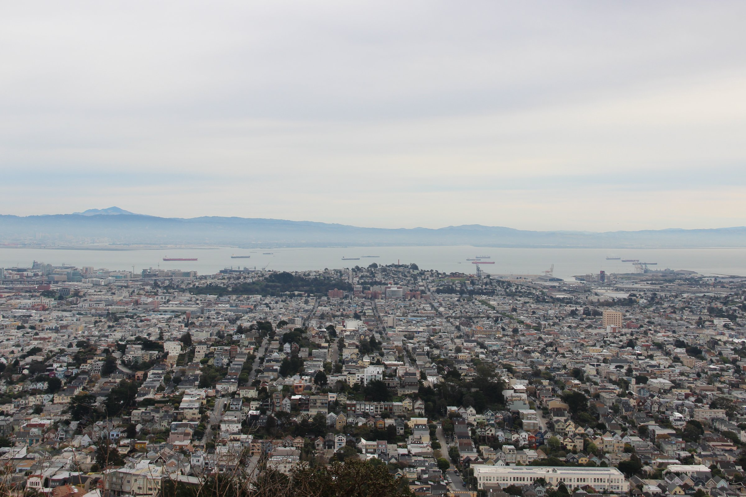 City by Bay and Mountains
