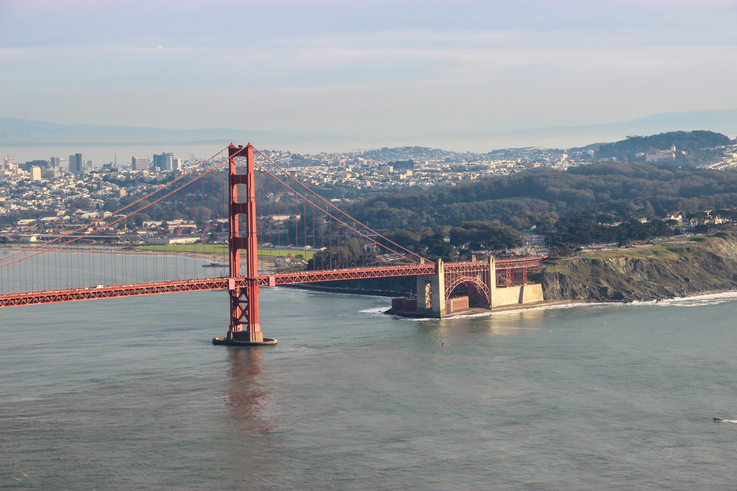 Golden Gate Bridge Going into San Francisco