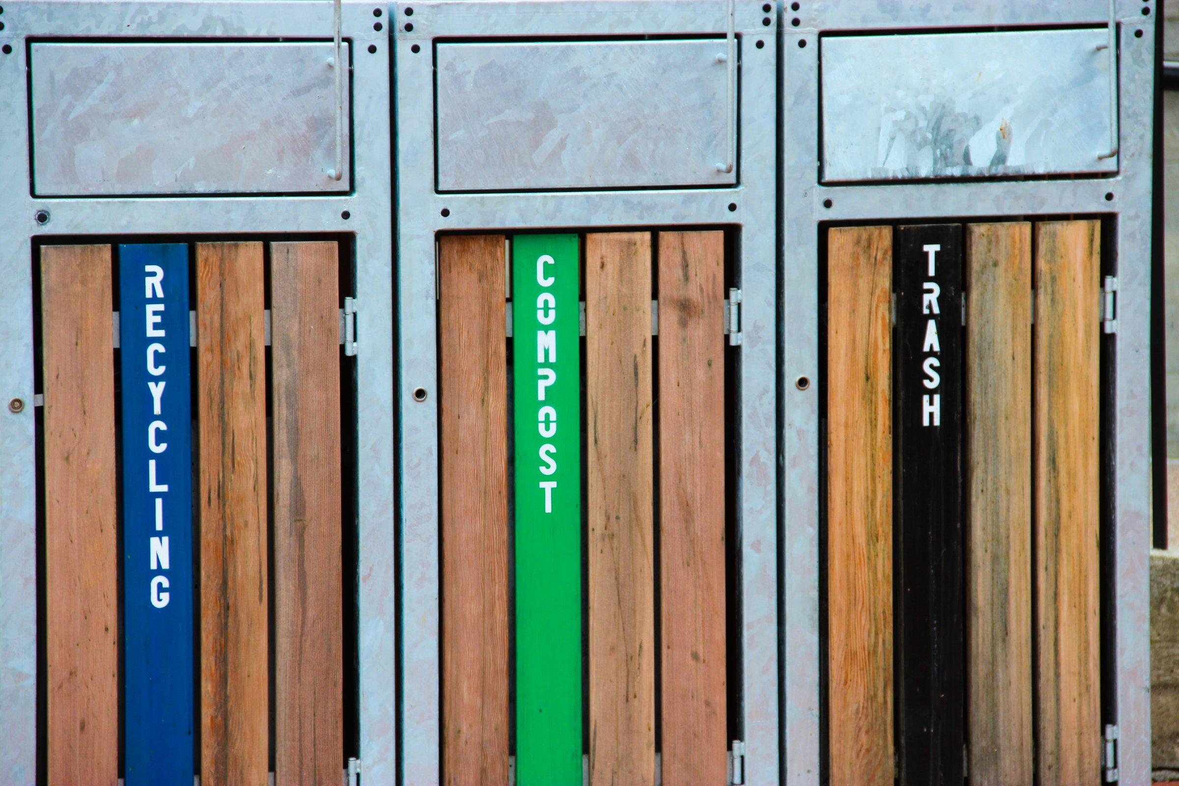 Trash Recycling Bins Trash Recycling Bins Door Design