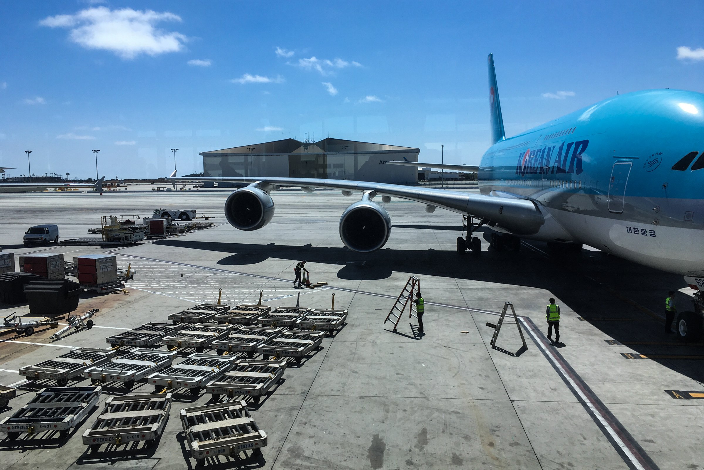 Airplane Refueling at Airport Gate