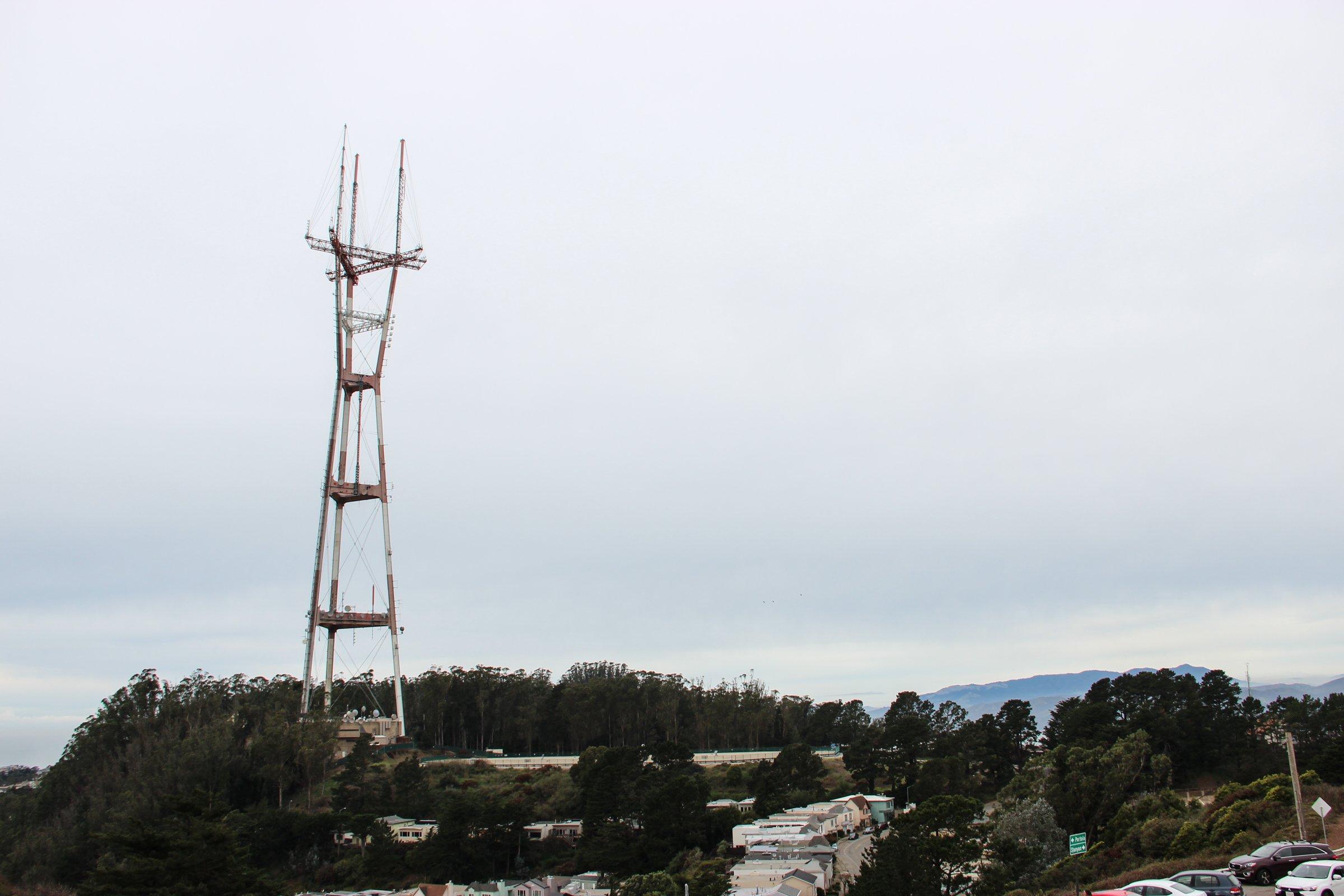 Free Stock Photo of Radio Tower Under Overcast Sky