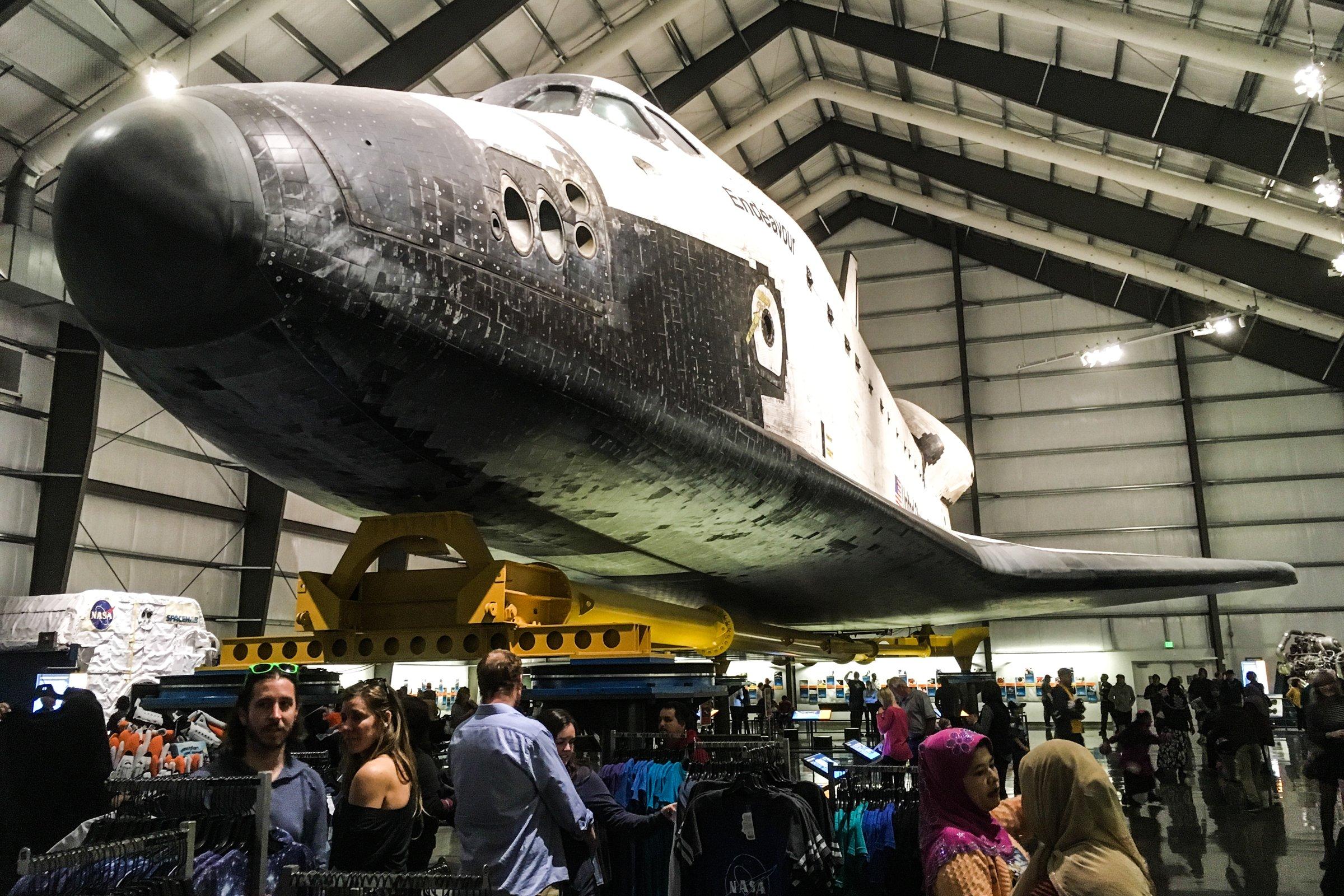 Crowds Under Space Shuttle