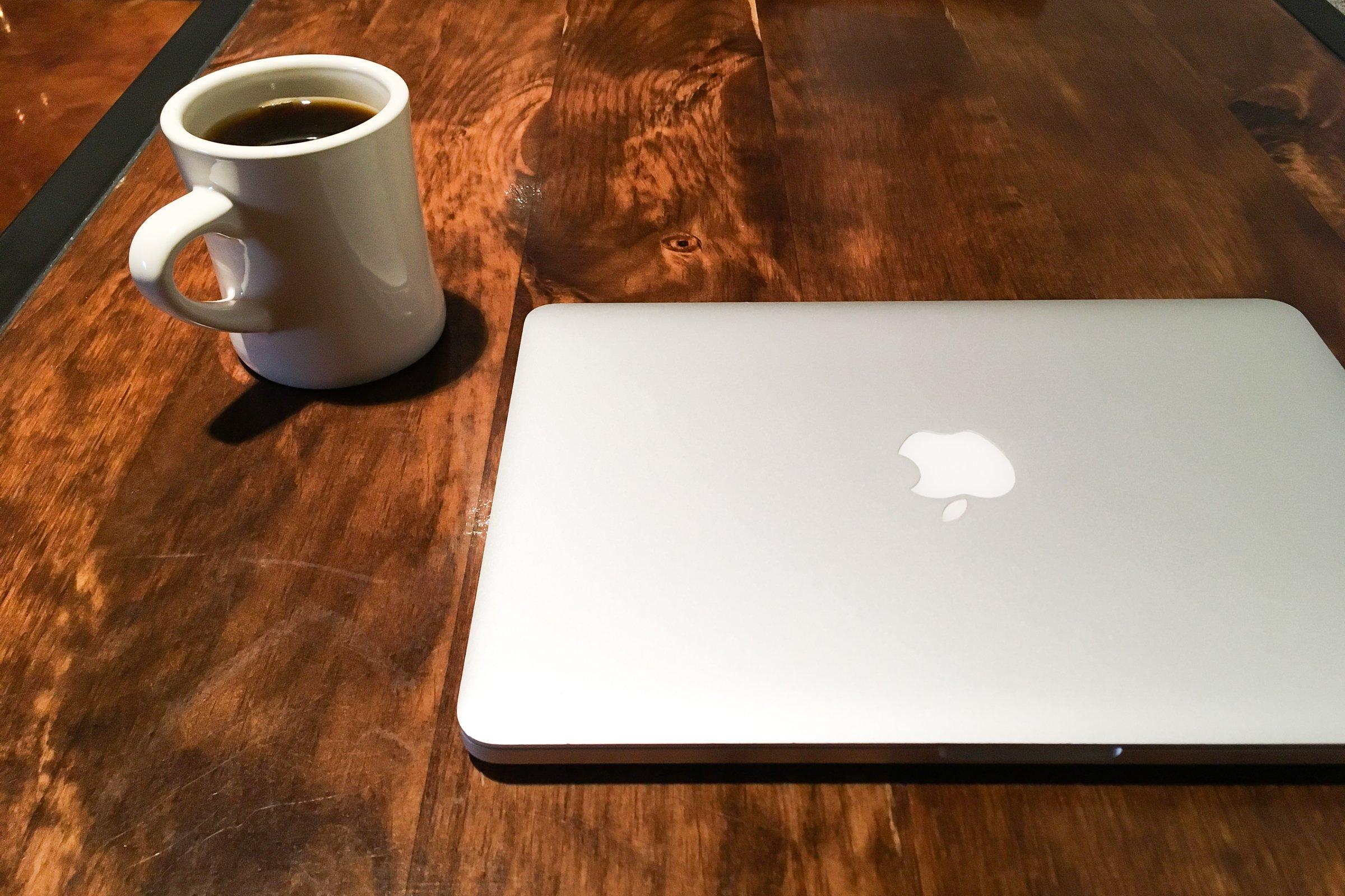 Coffee Cup & Macbook Laptop