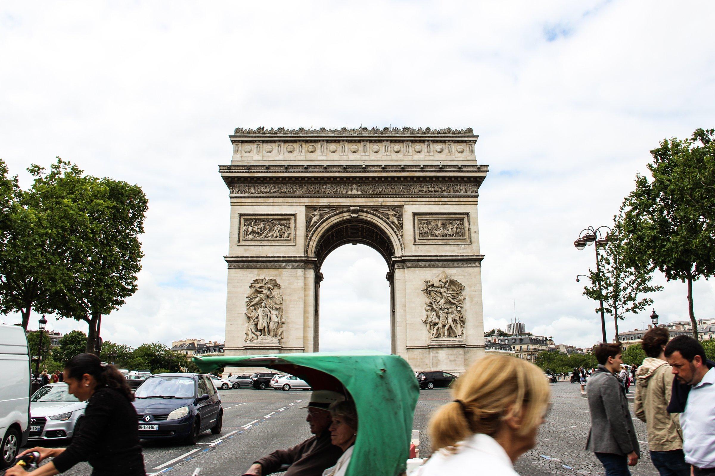 People Walking by Arc de Triomphe