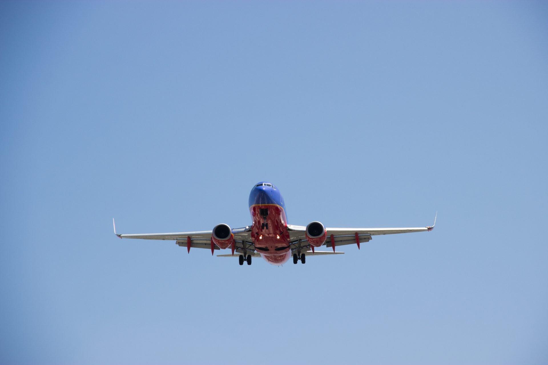 Airplane in Sky Landing