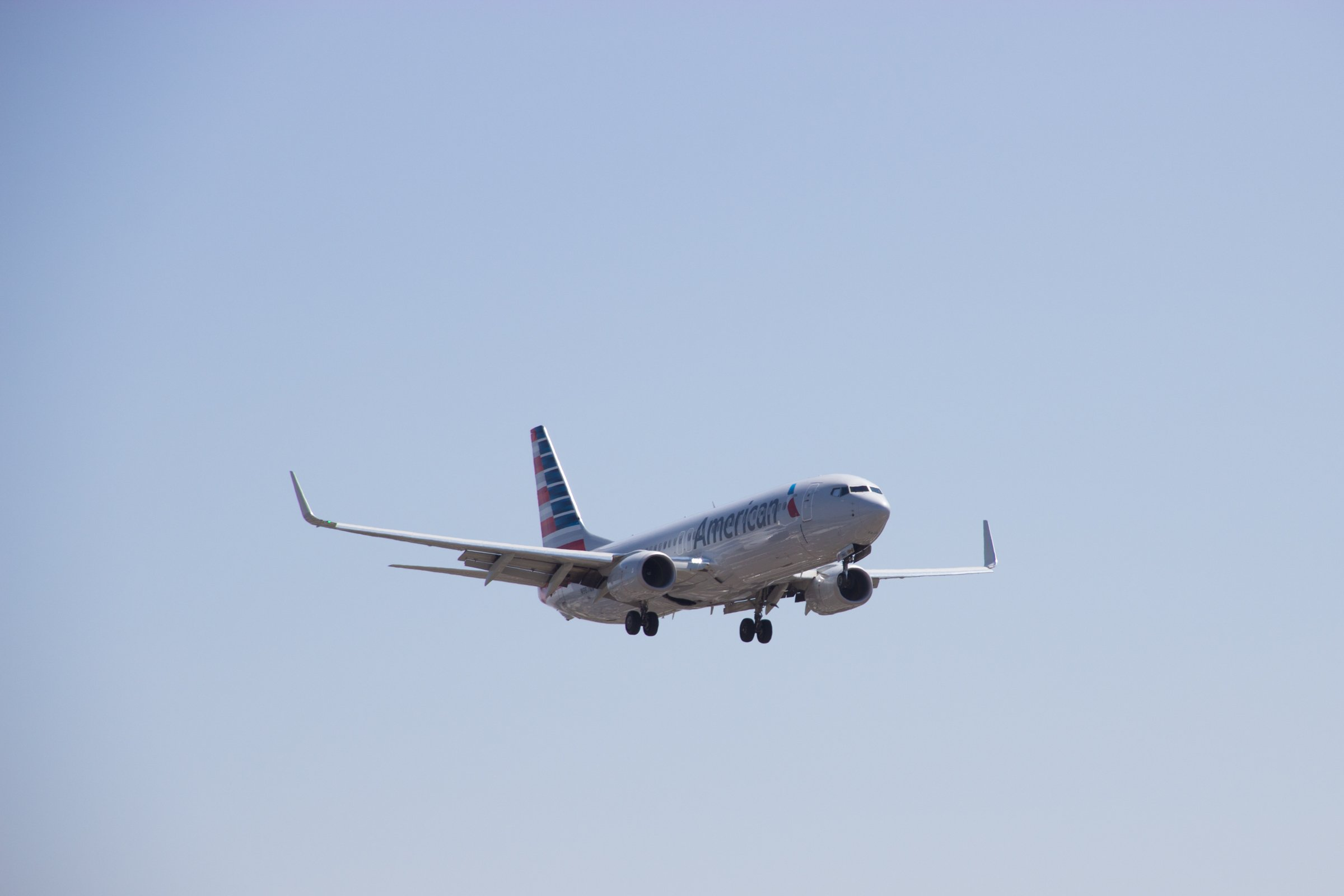 American Airlines Airplane in Sky