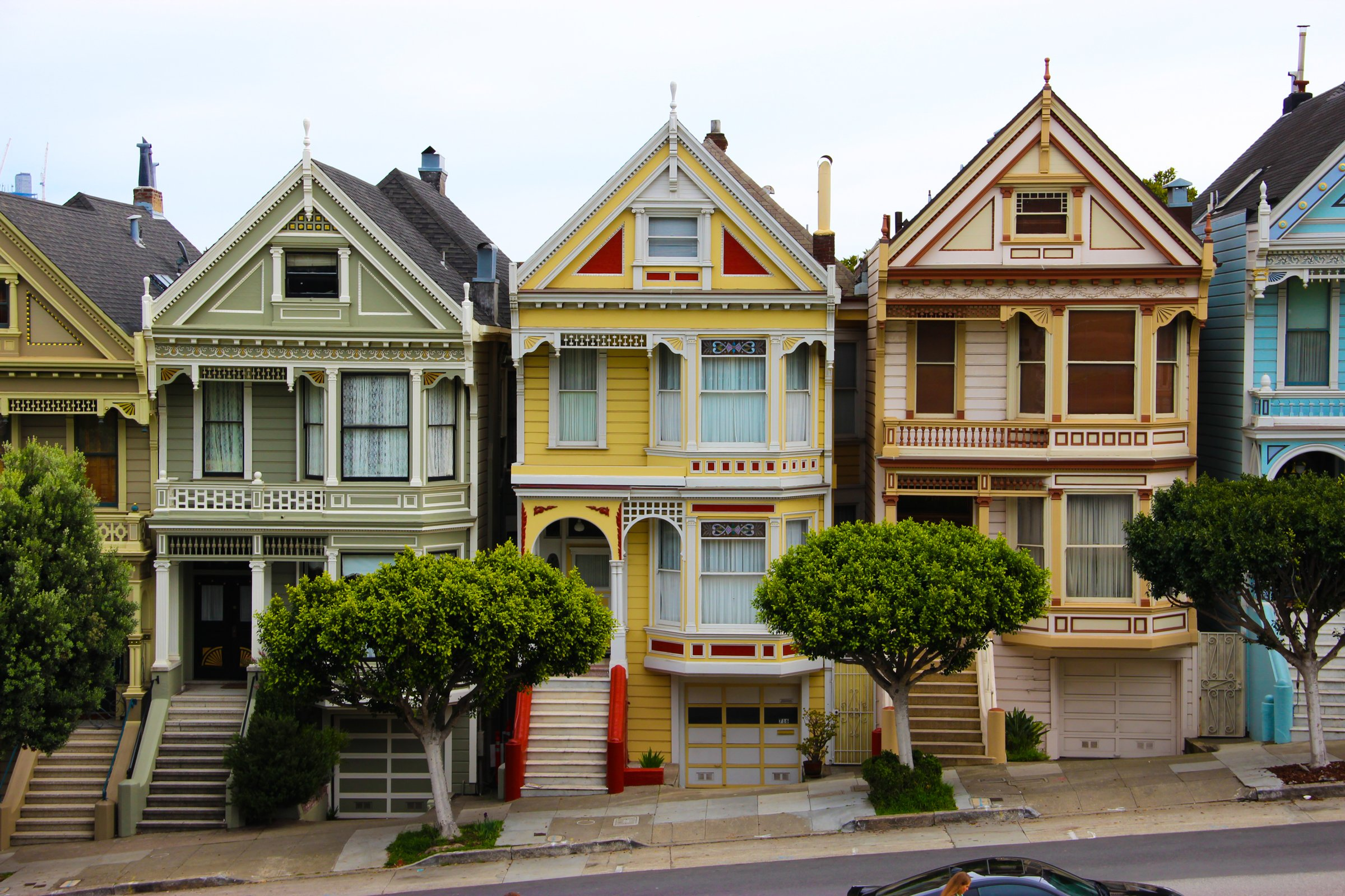 Free Stock Photo Of Colorful Houses On Slanted Street