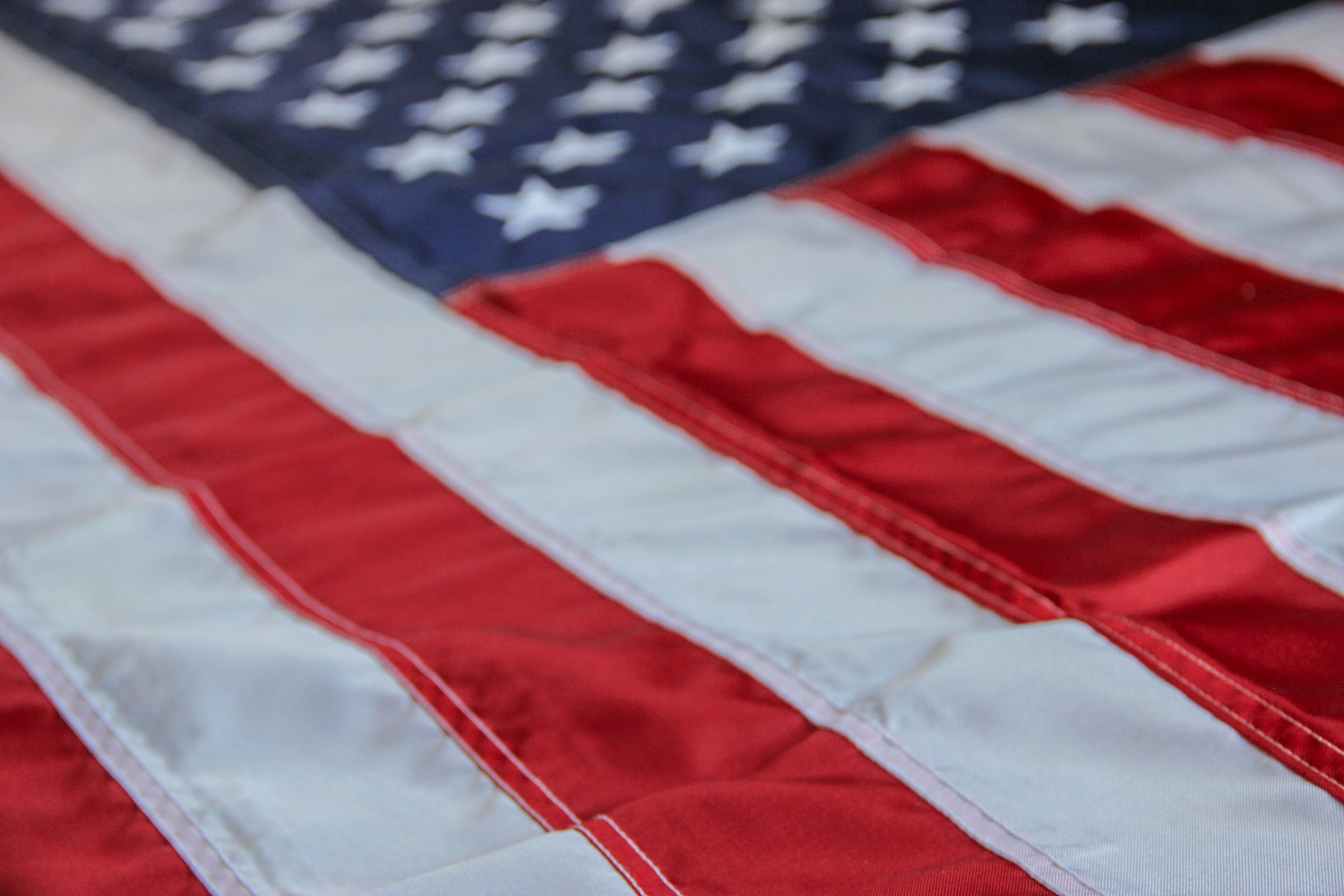 Free Stock Photo of Close Up of American Flag
