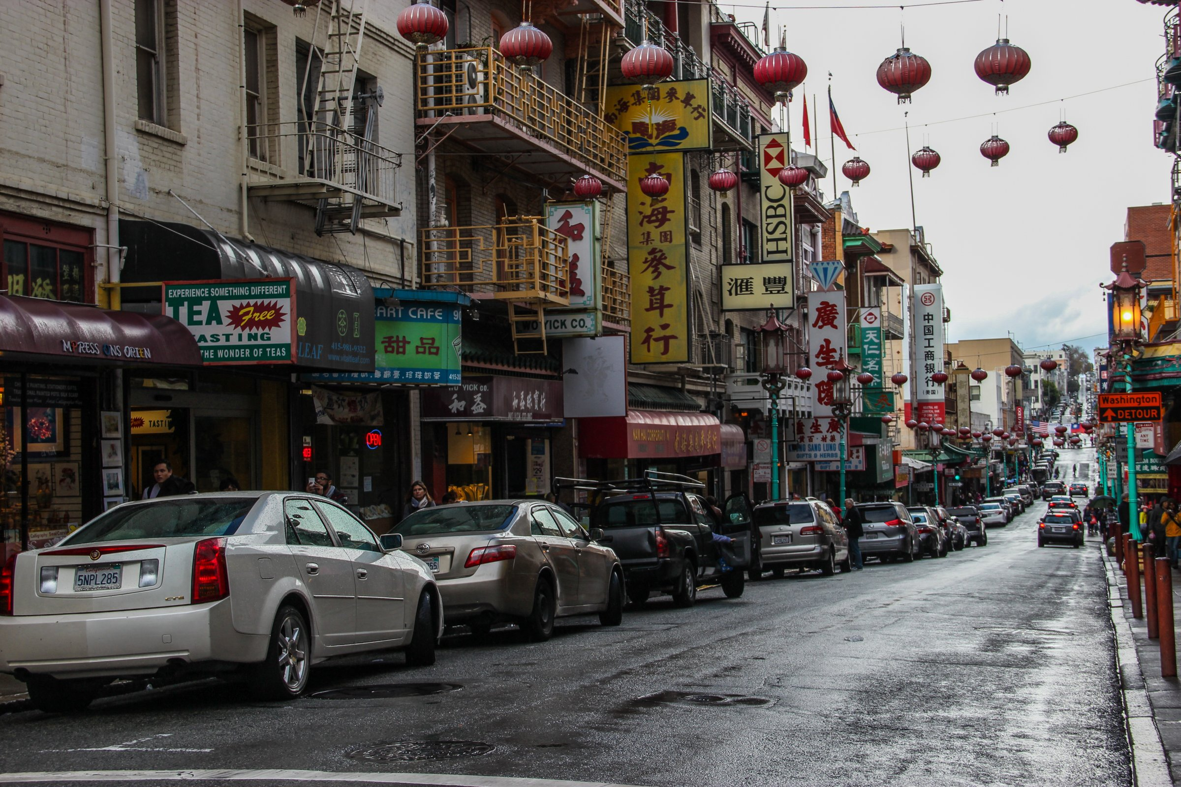 Street with Cars in Chinatown