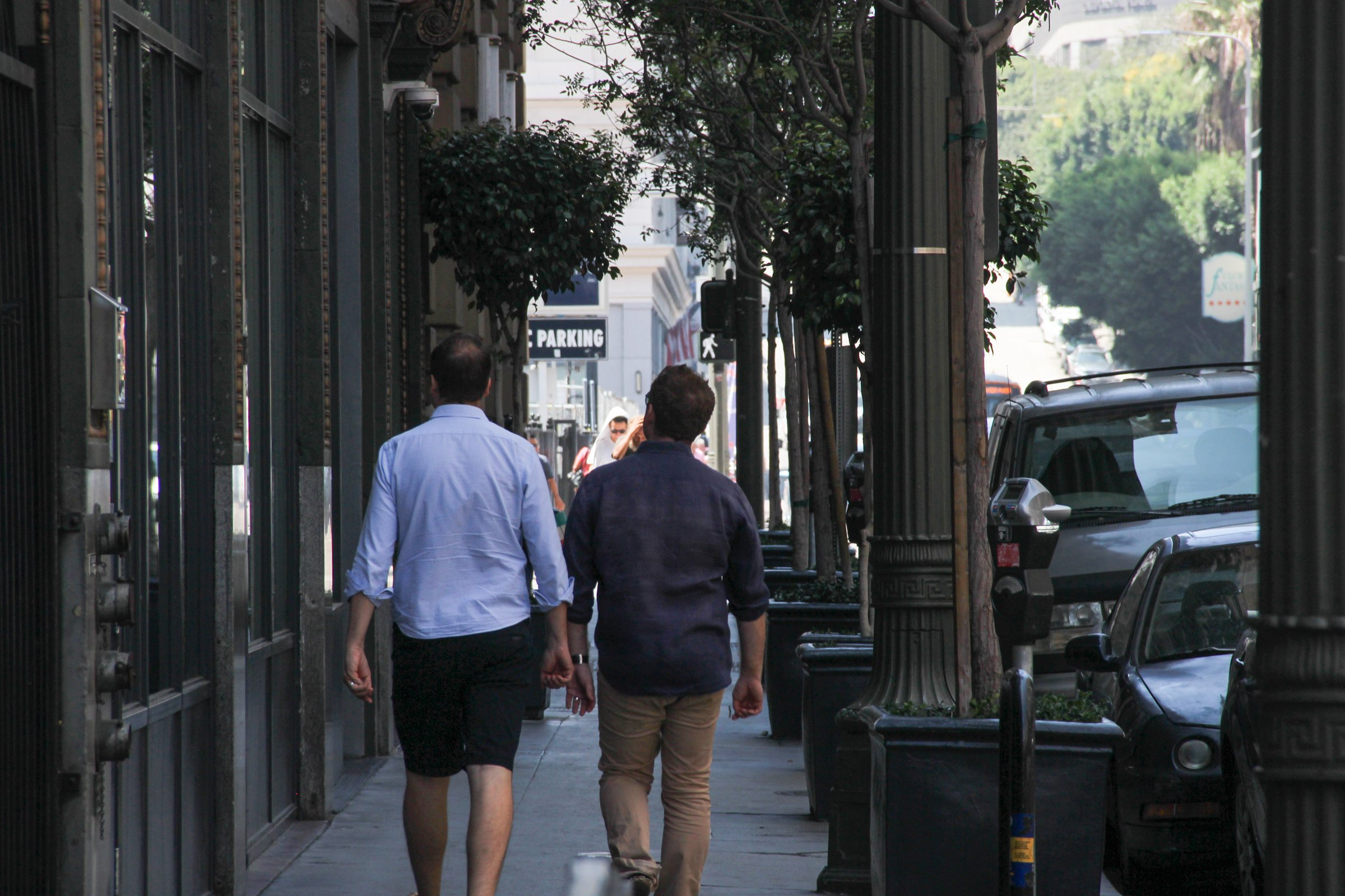 Men Walking on Street