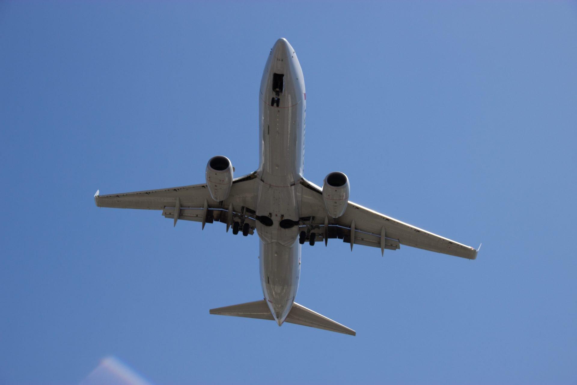 Underside of Flying Airplane