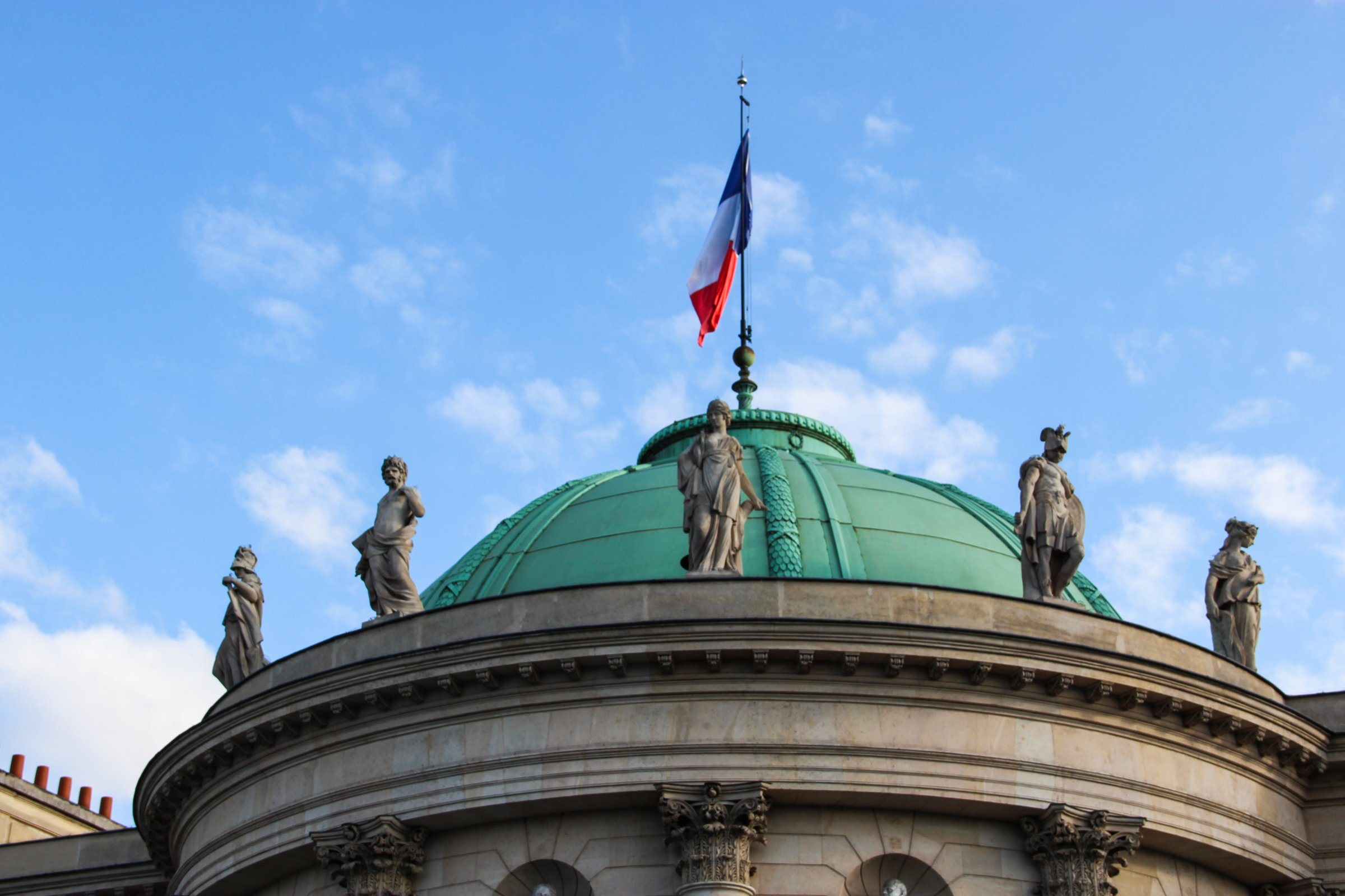 French Flag On Dome Roof