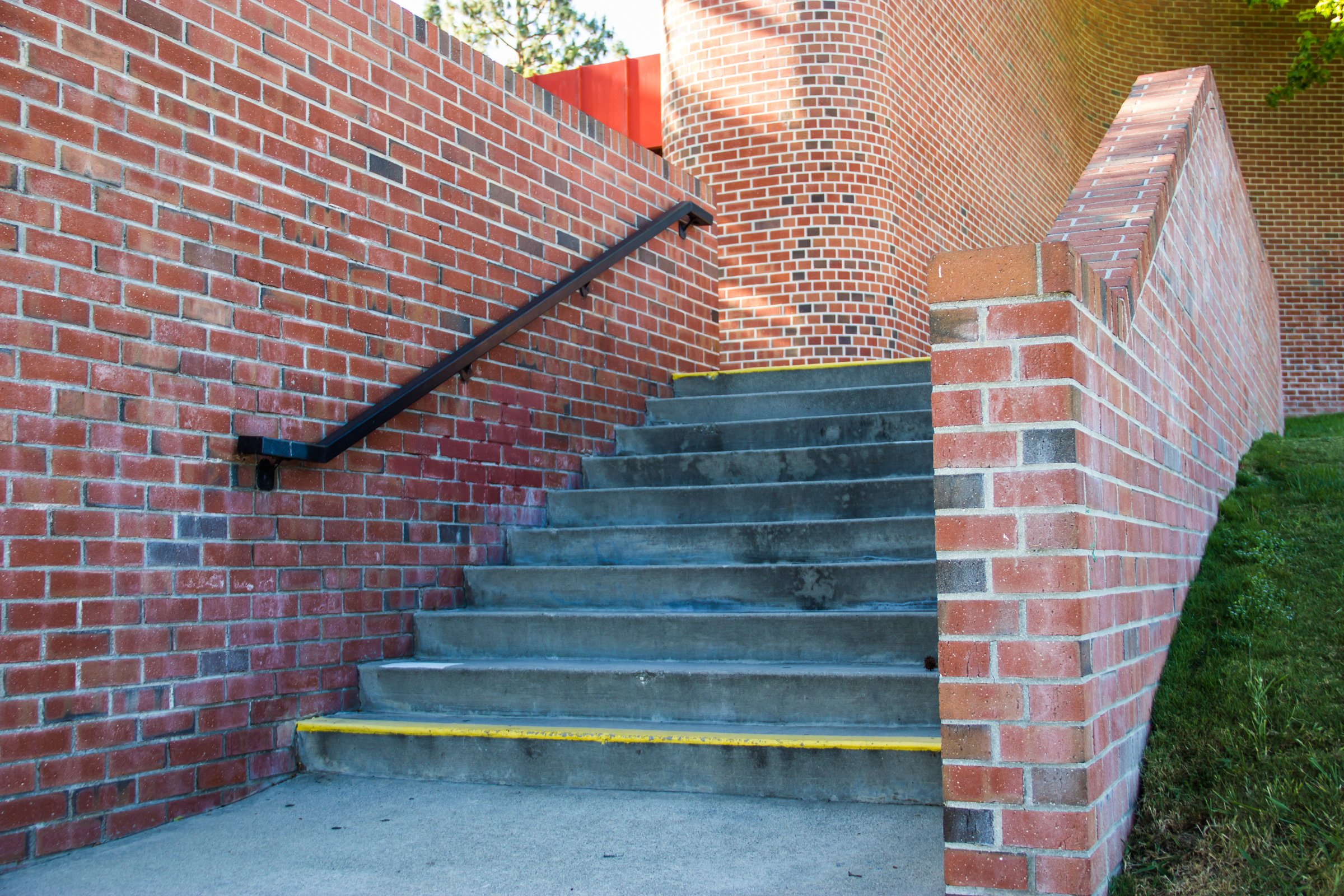 Steps With Brick Wall