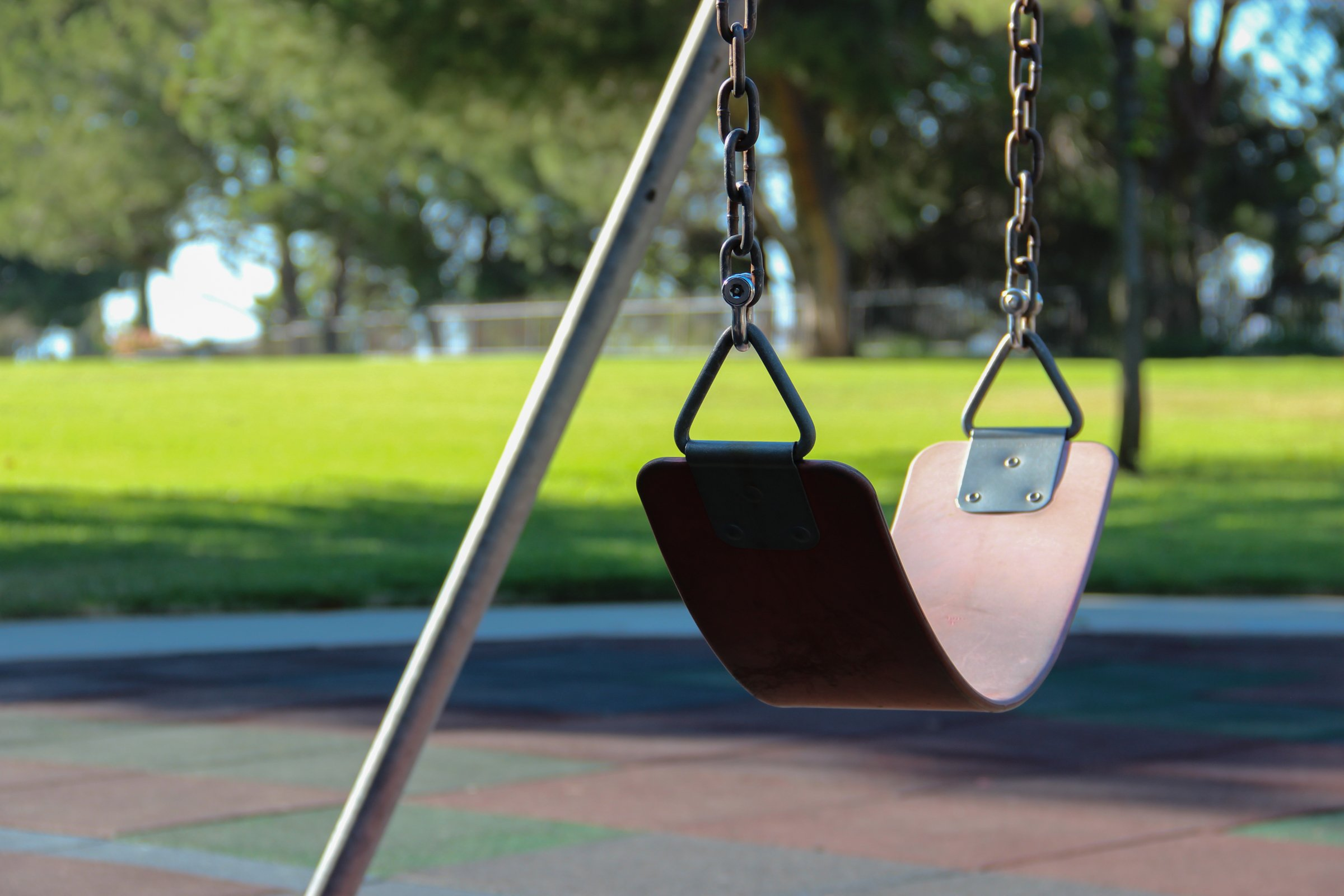 Stationary Swing At Park