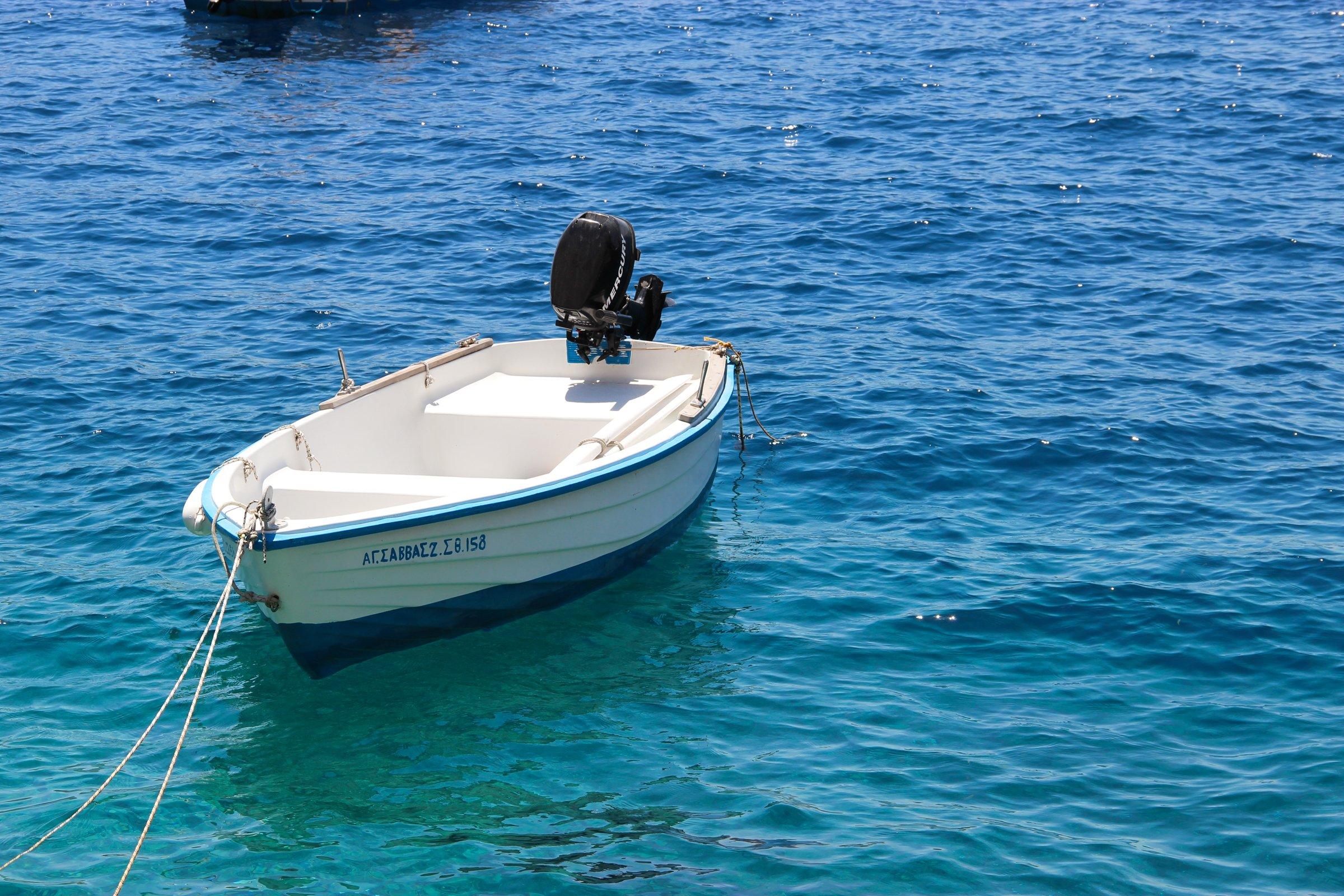 Empty Motorboat On Water