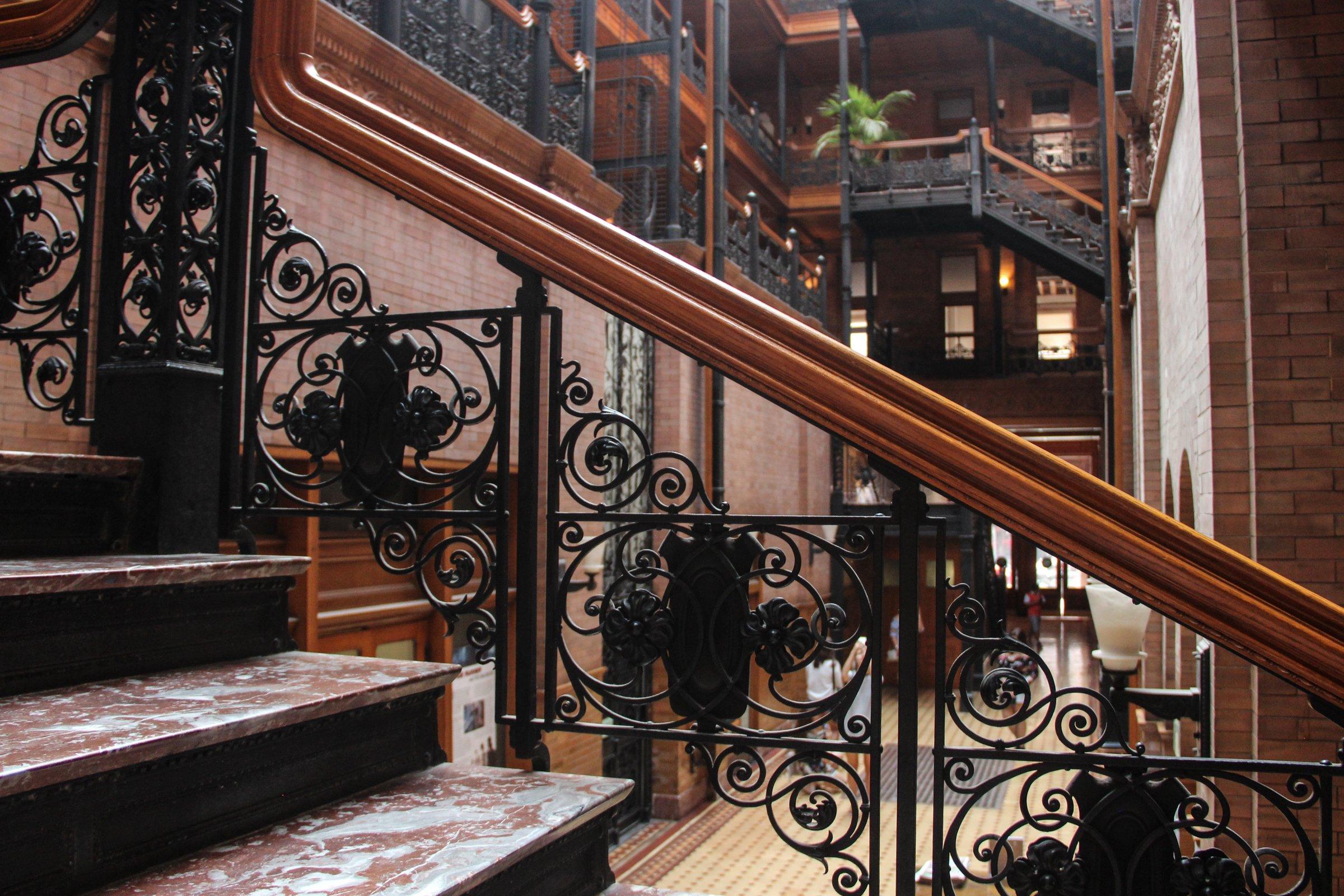 Staircase Railings In Fancy Building