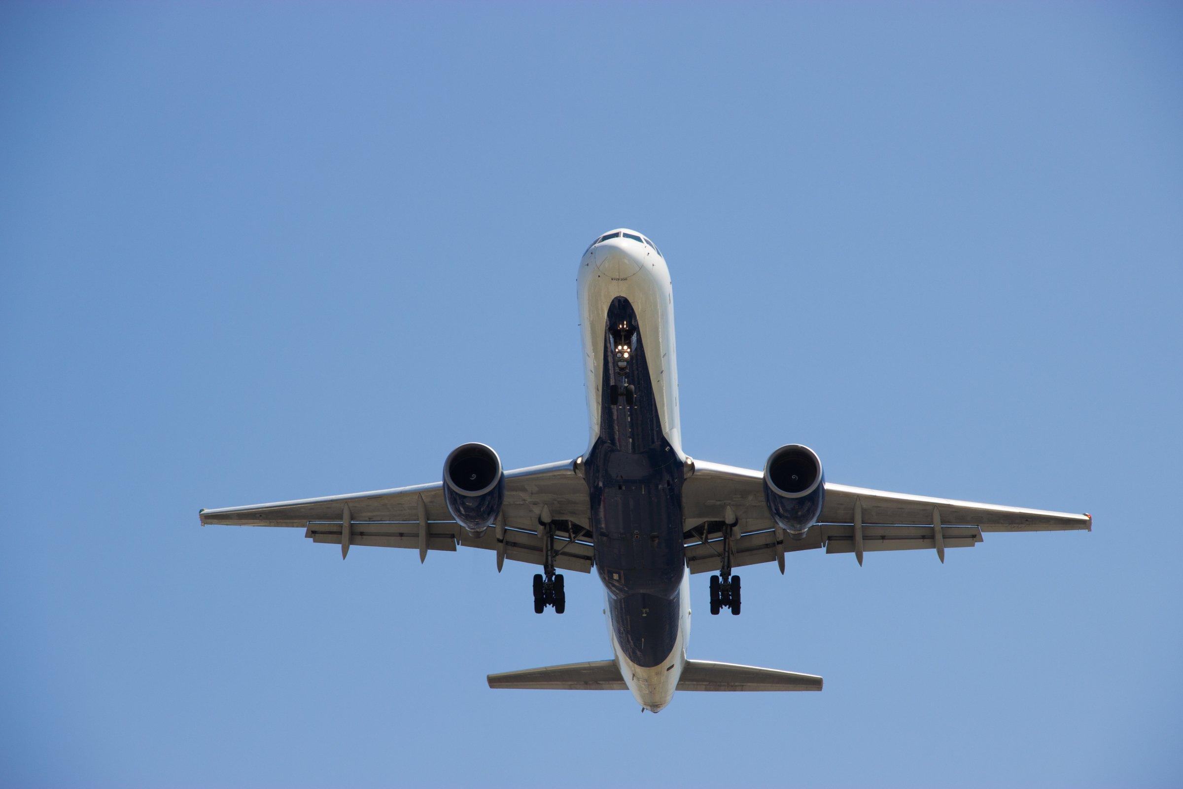 Bottom Of Plane In Clear Sky