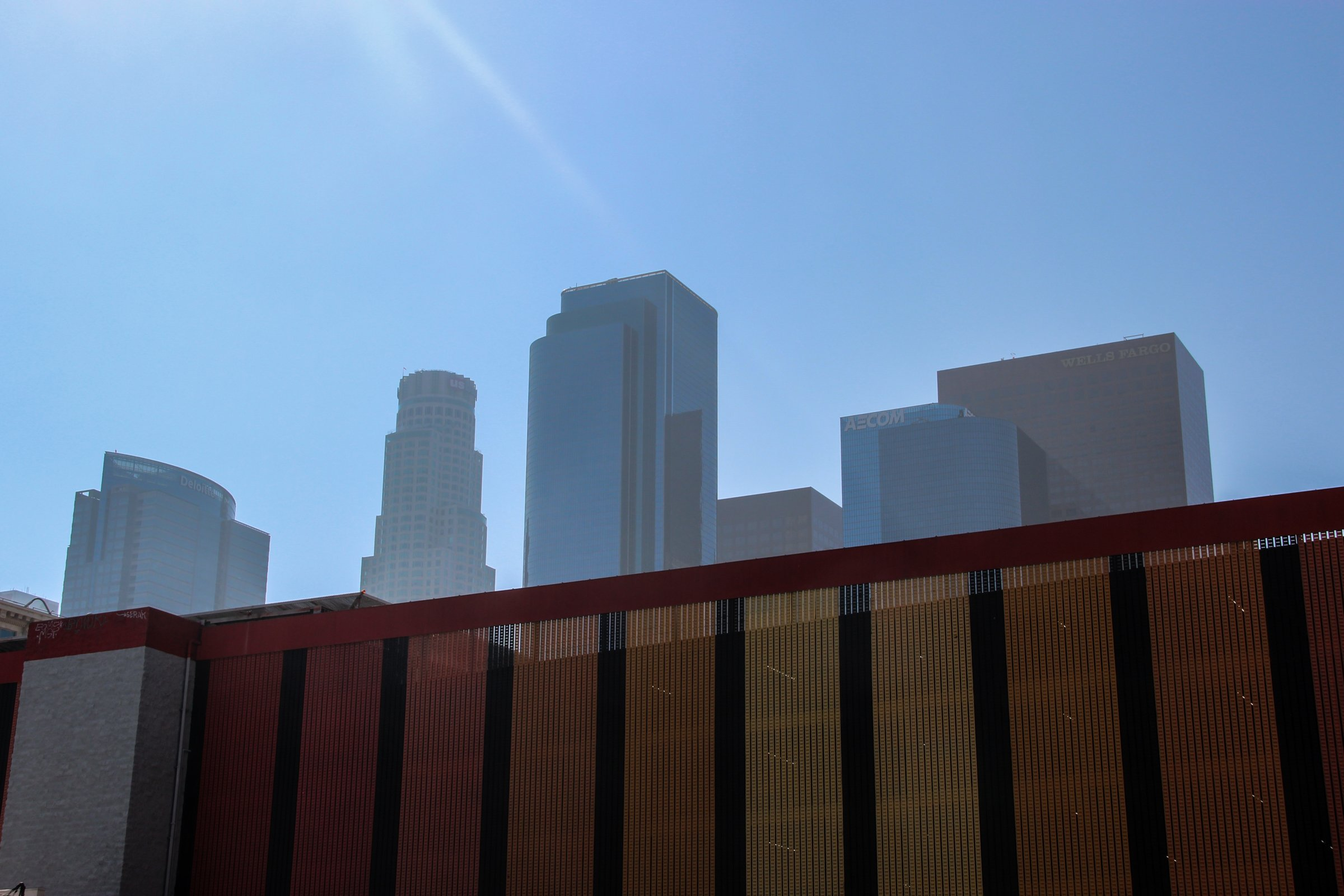 Tall Buildings Beyond Fence