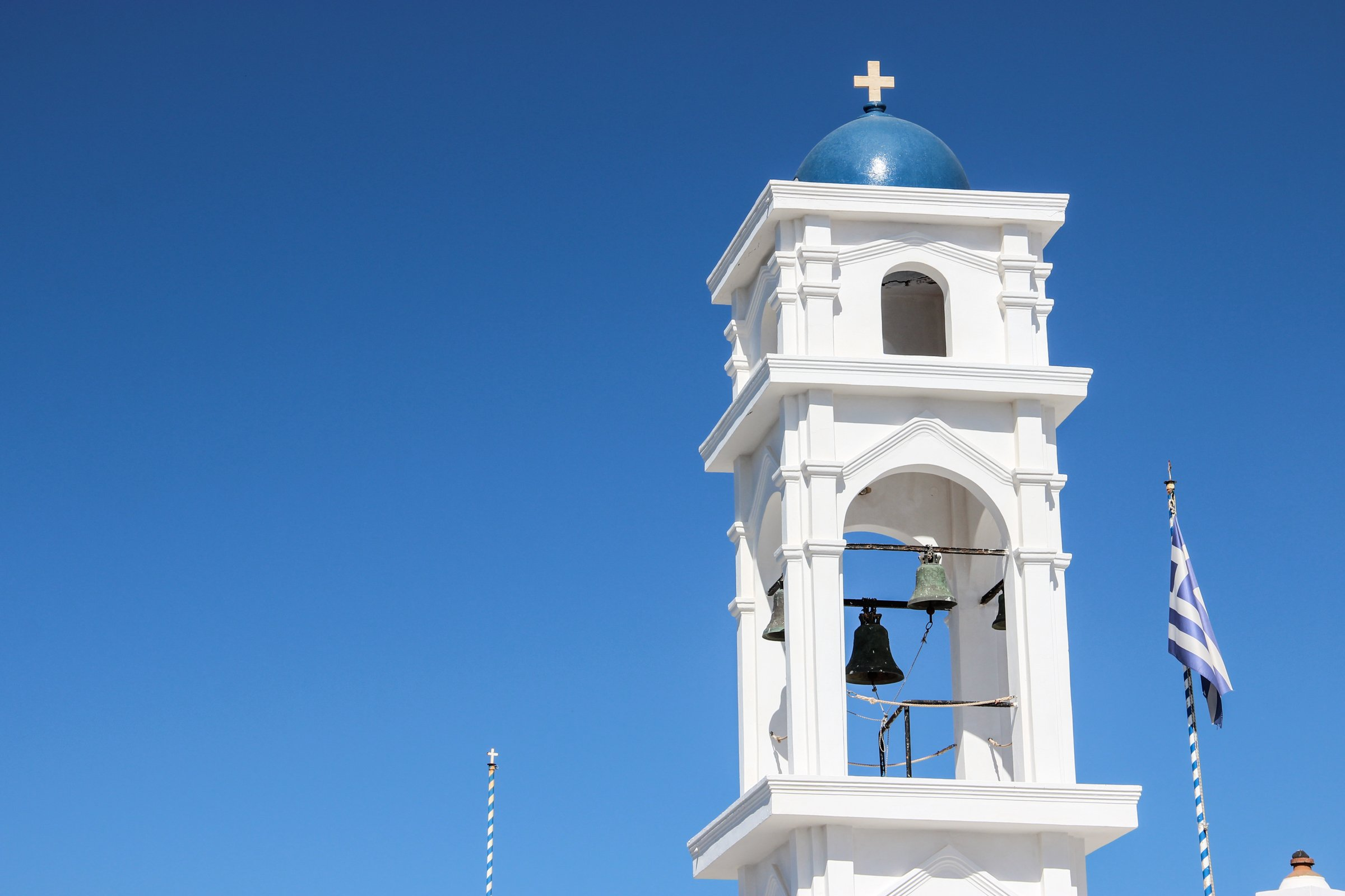 Bell Tower Of Anastasi Church In Greece
