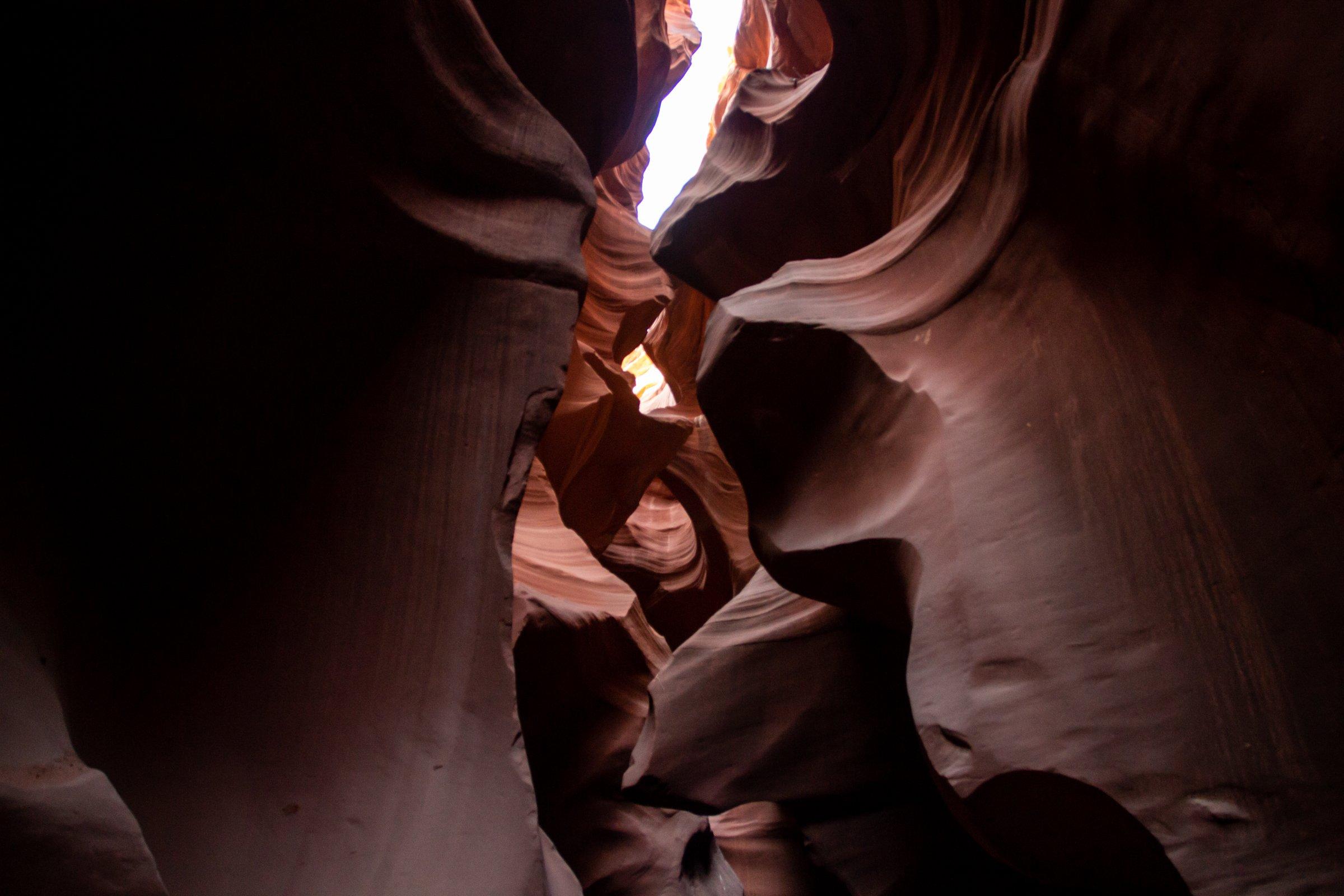 Rocks Walls In Antelope Slot Canyon In Arizona