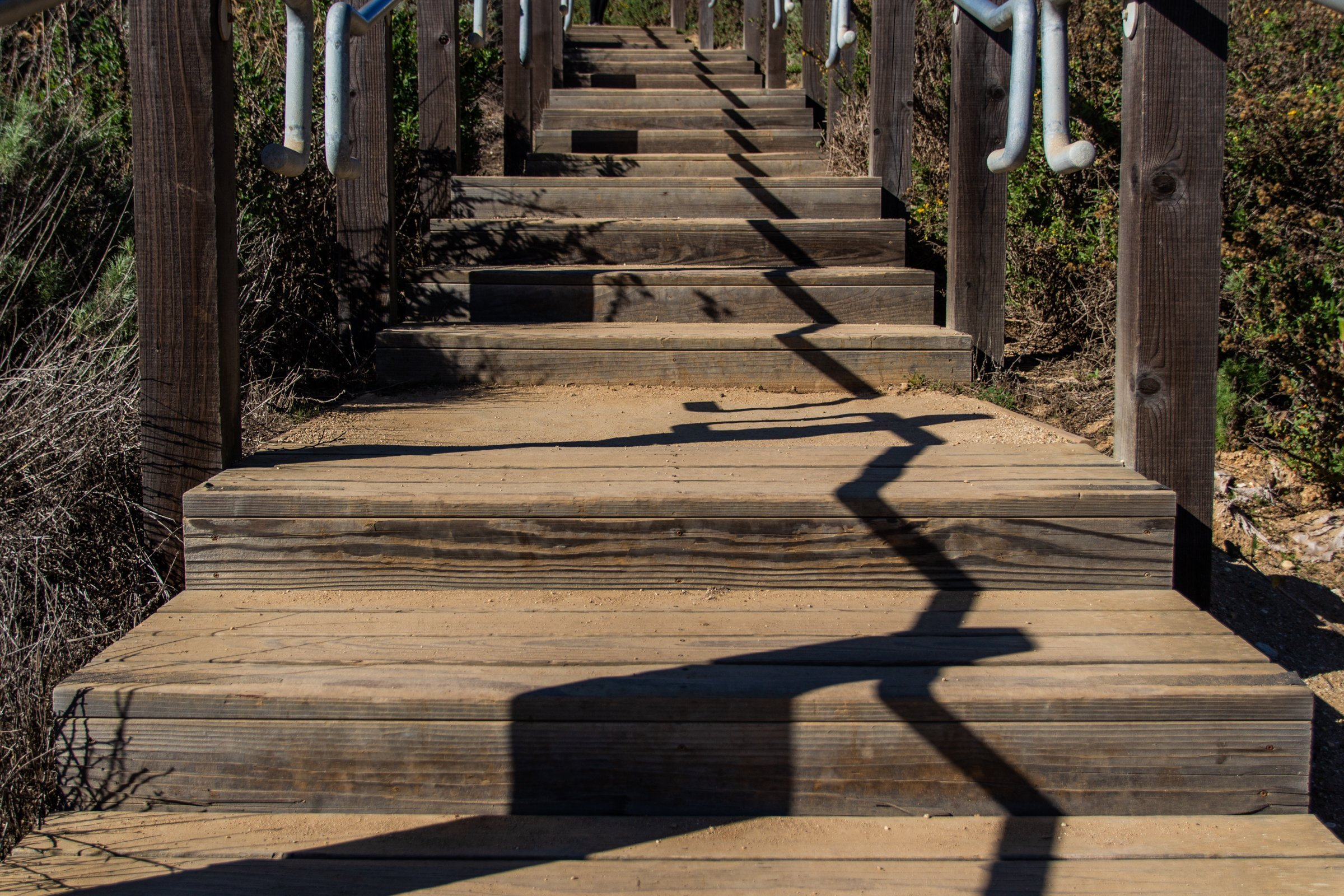Wooden Outdoor Stairs Steps