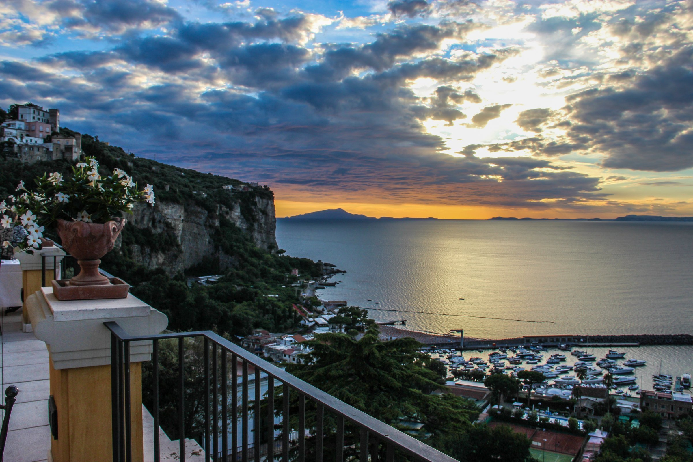 Cloudy Sky During Sunset Over Amalfi Coast