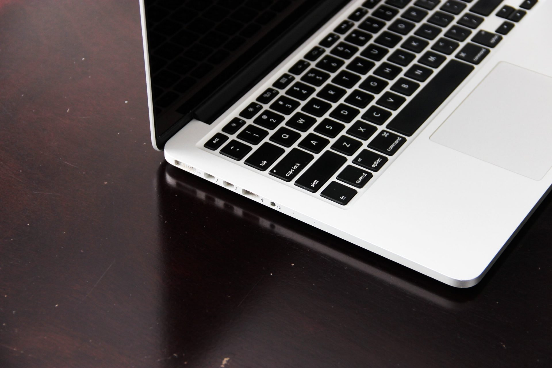 Keyboard Of Laptop On Dark Surface