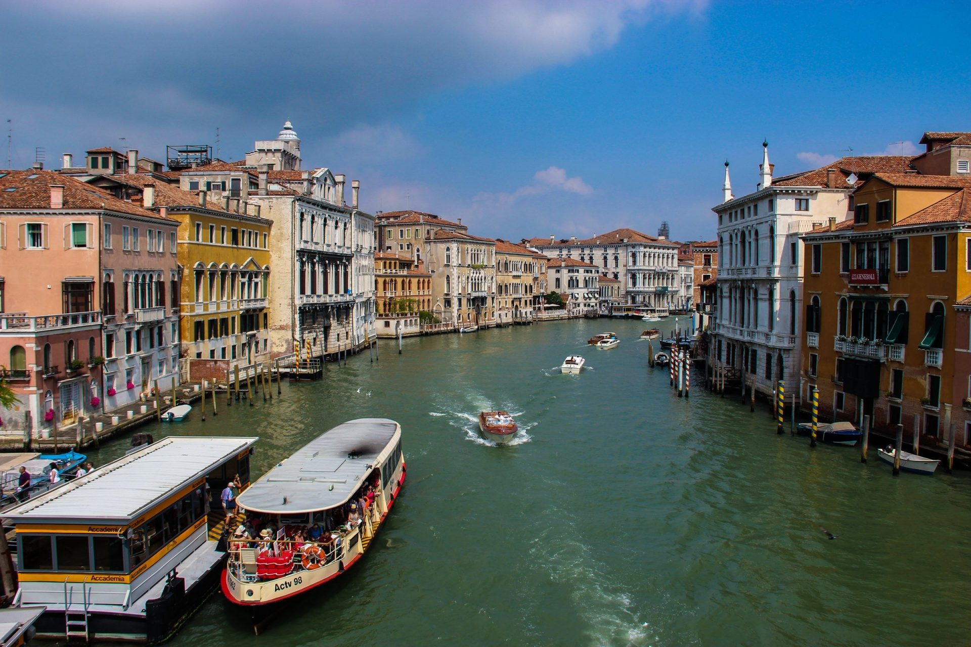 Vaporetto And Boats In Venice Canal