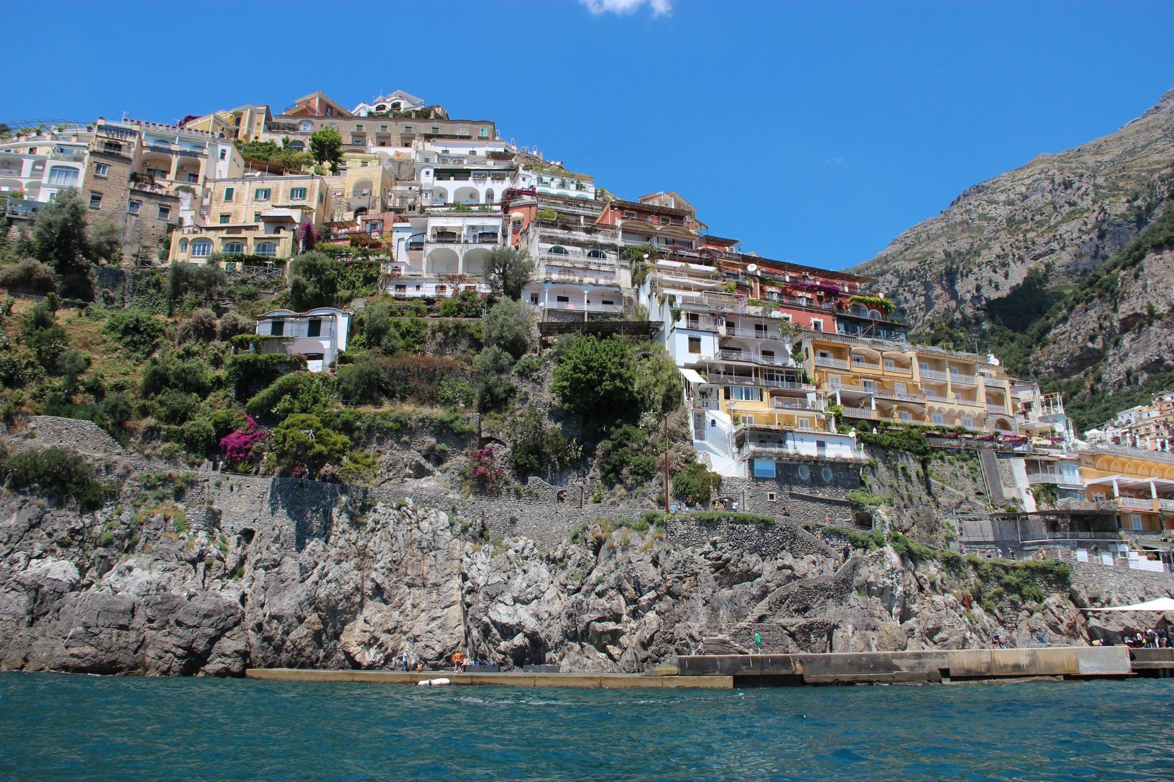 Buildings On Coastal Cliff