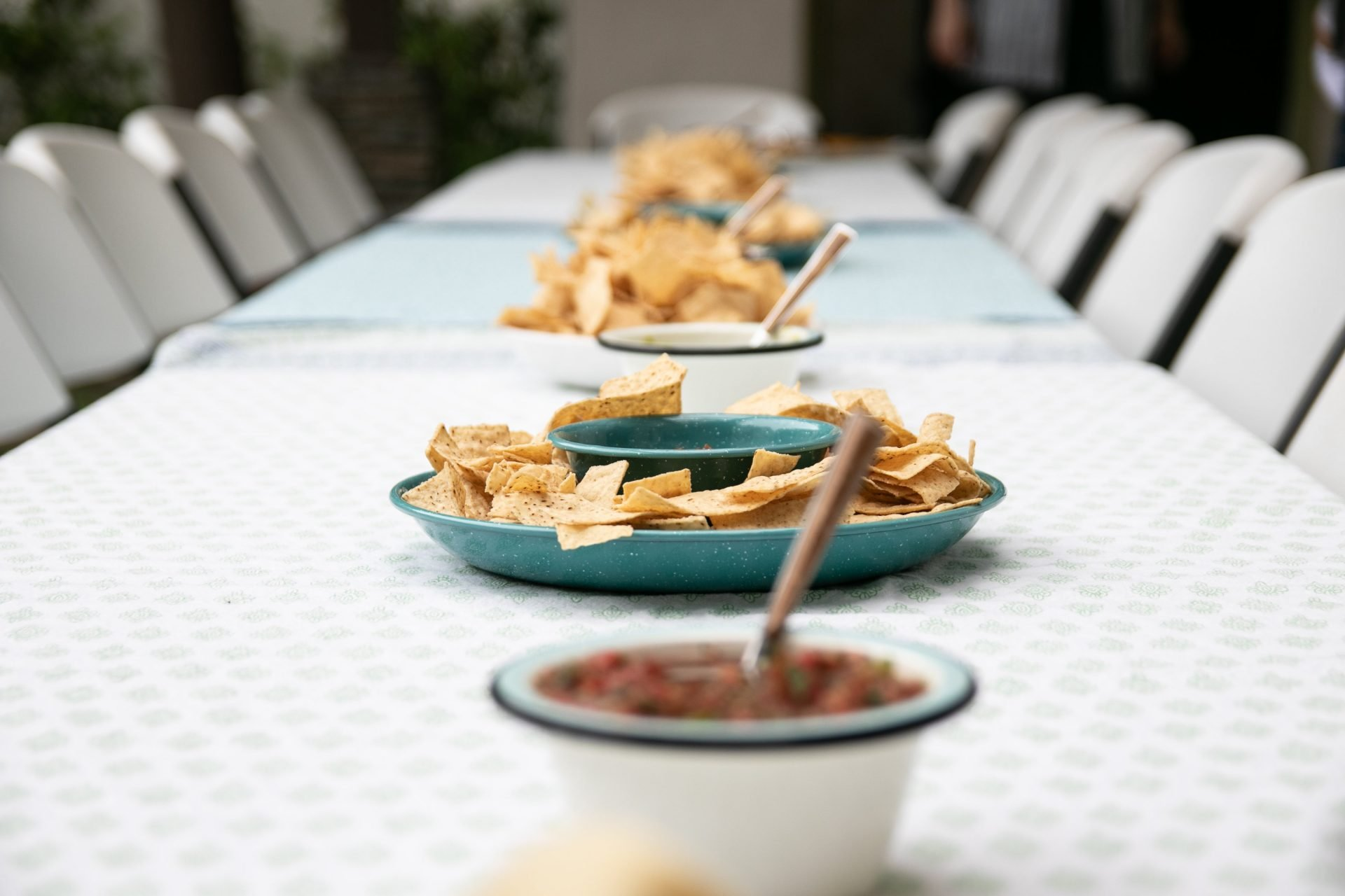 Snacks On Long Table