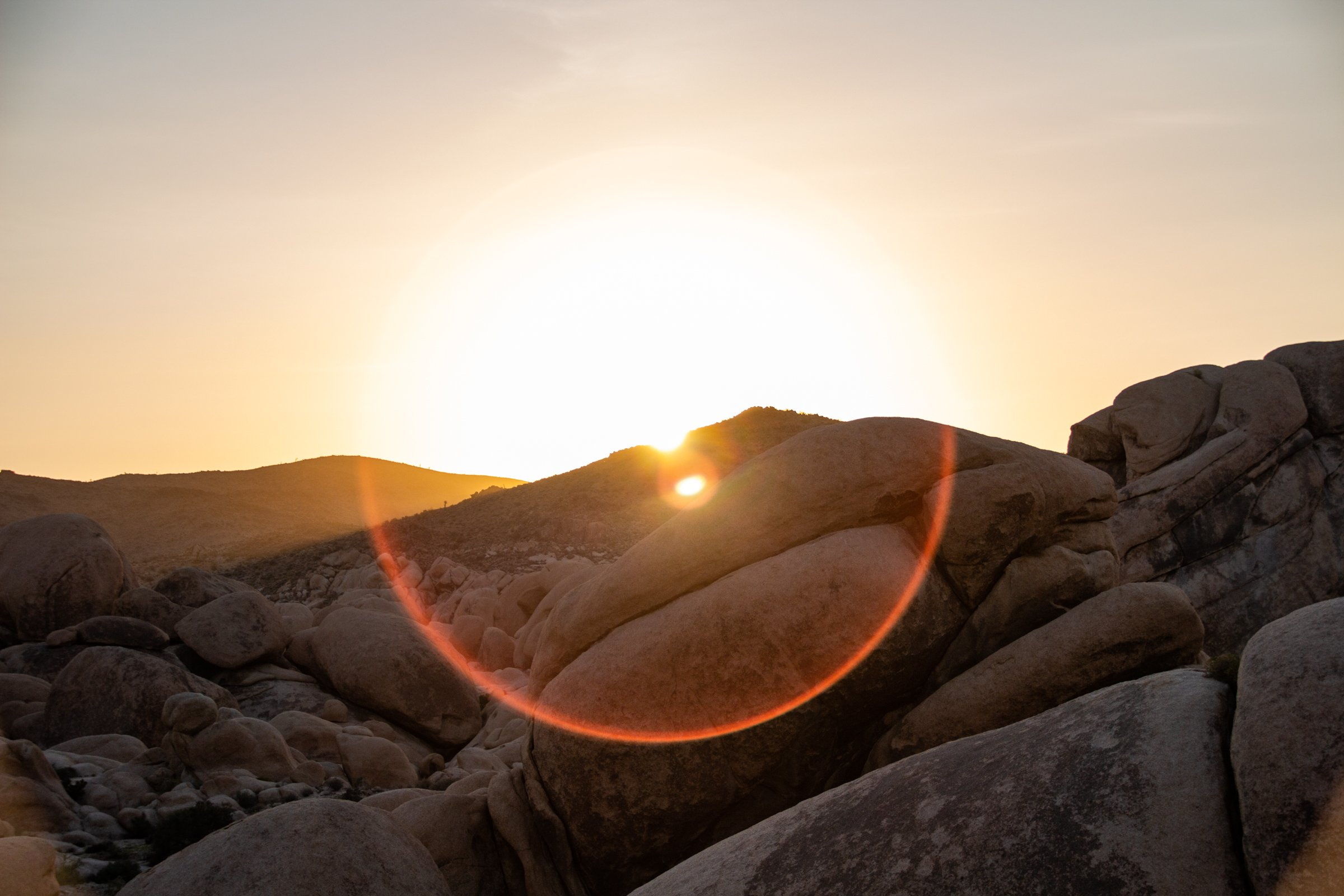Sunset Behind Rocks