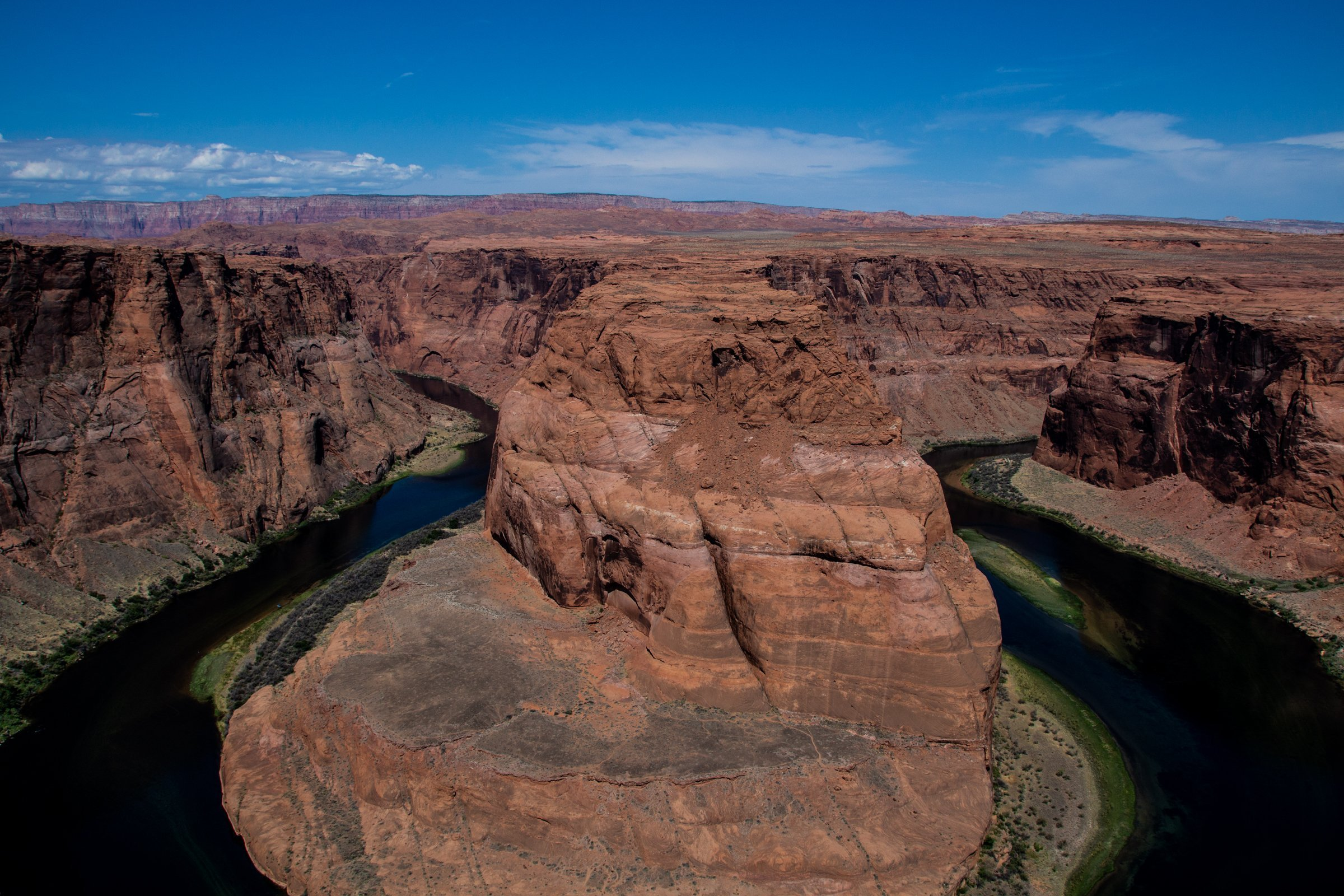 Water Stream Of Horseshoe Bend In Arizona