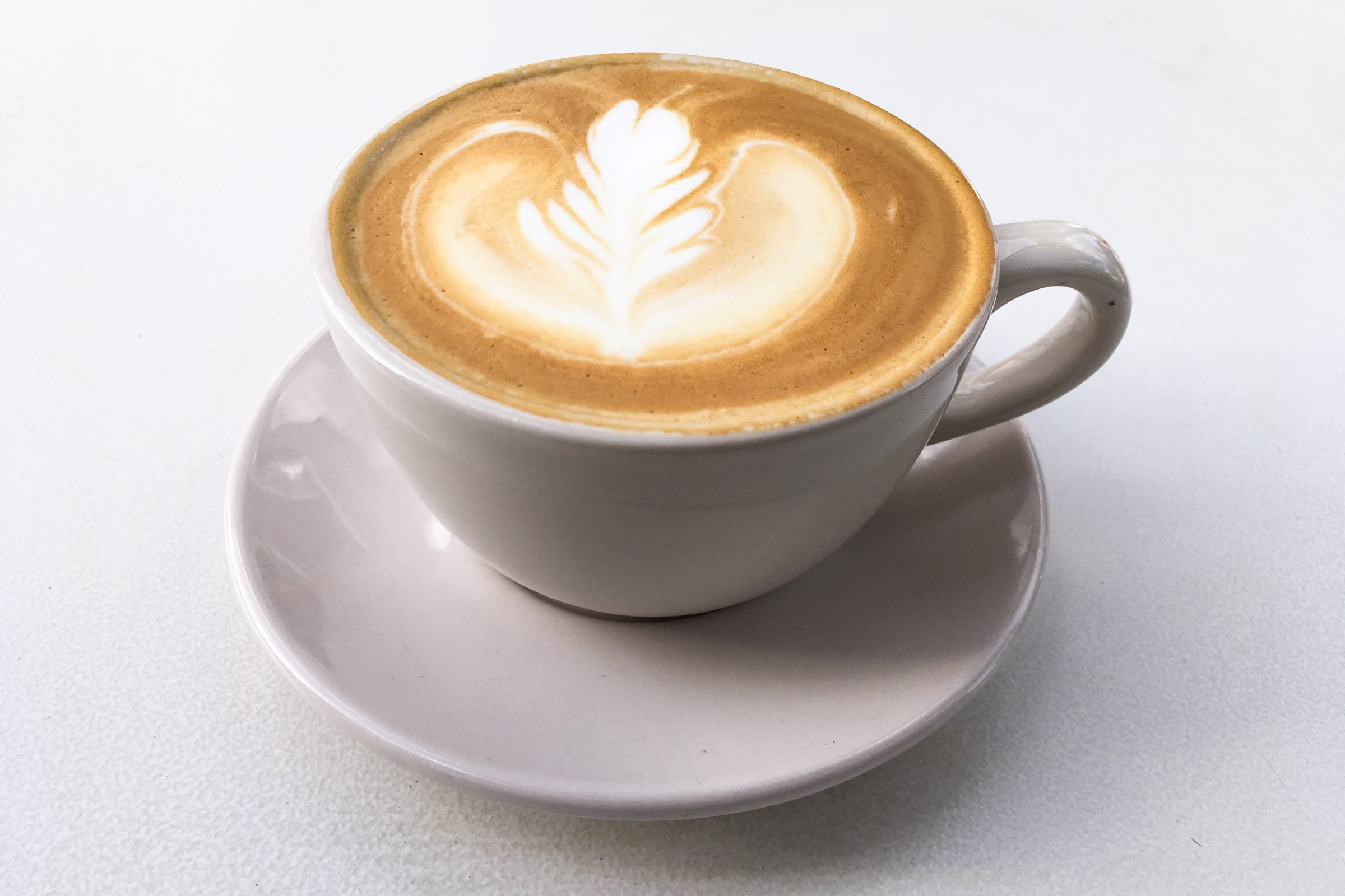 Leaf Latte Art In Coffee Cup