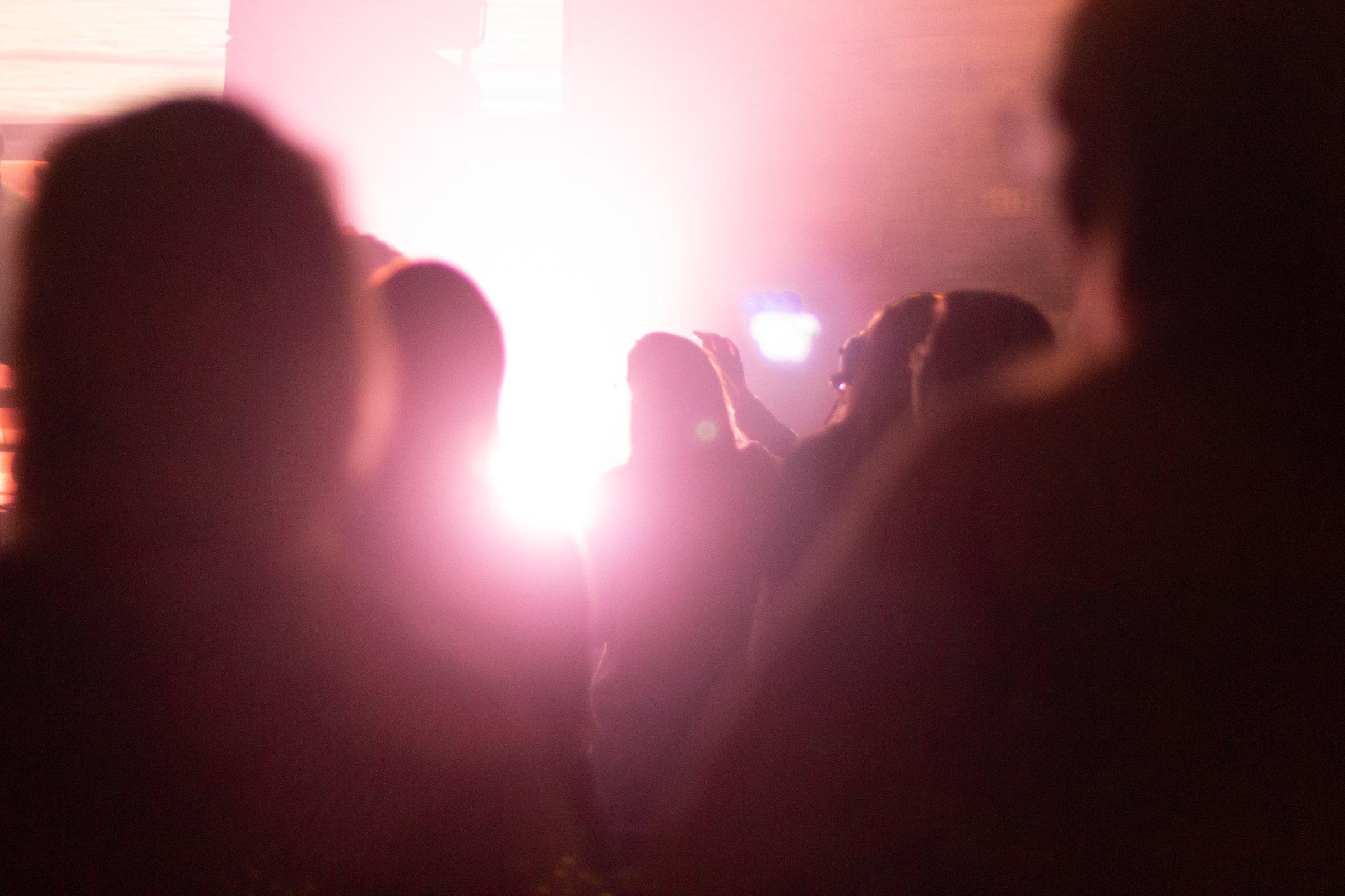 Light Glare Coming Through People