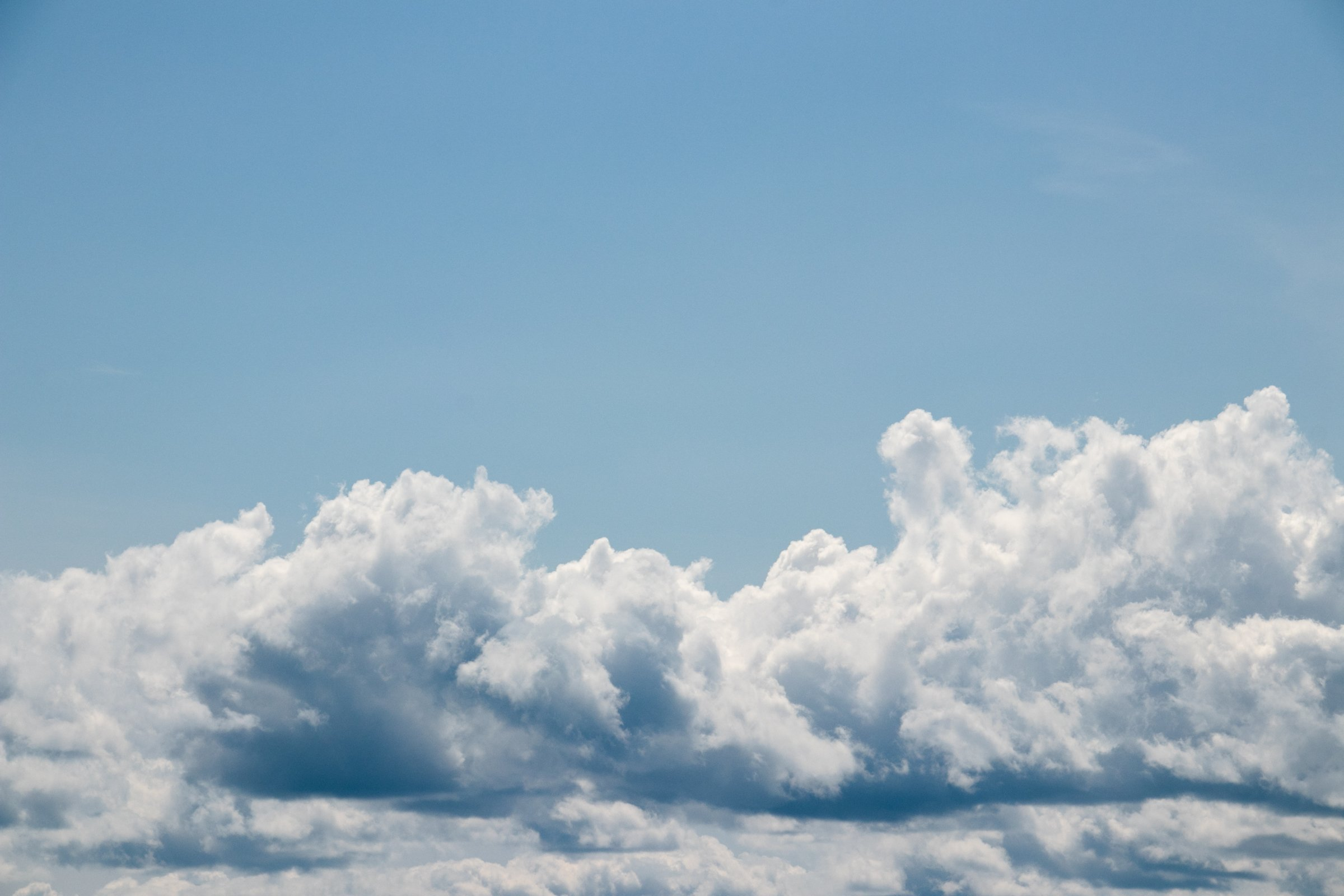 Compact Clouds In Blue Sky