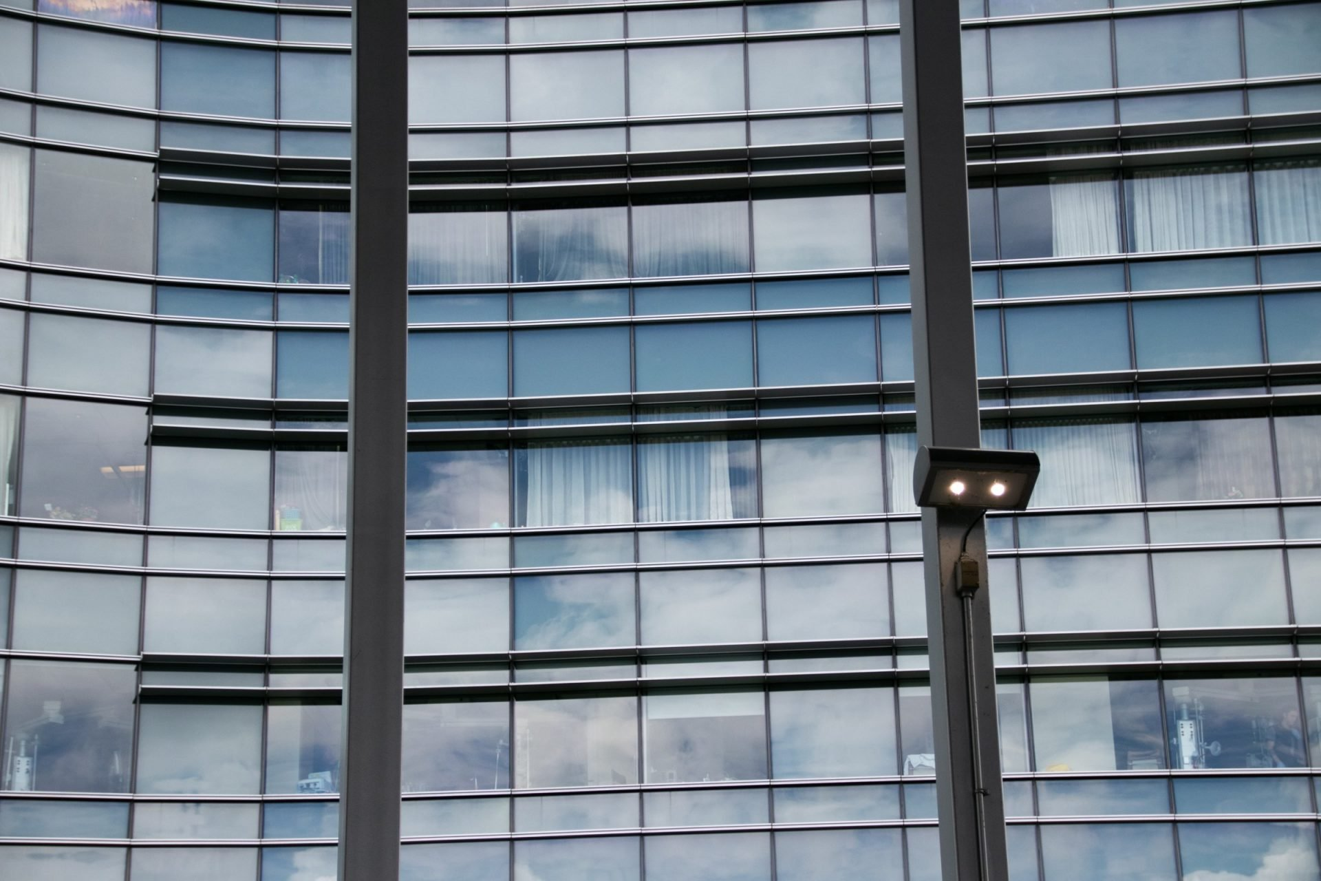 Glass Building Through Window