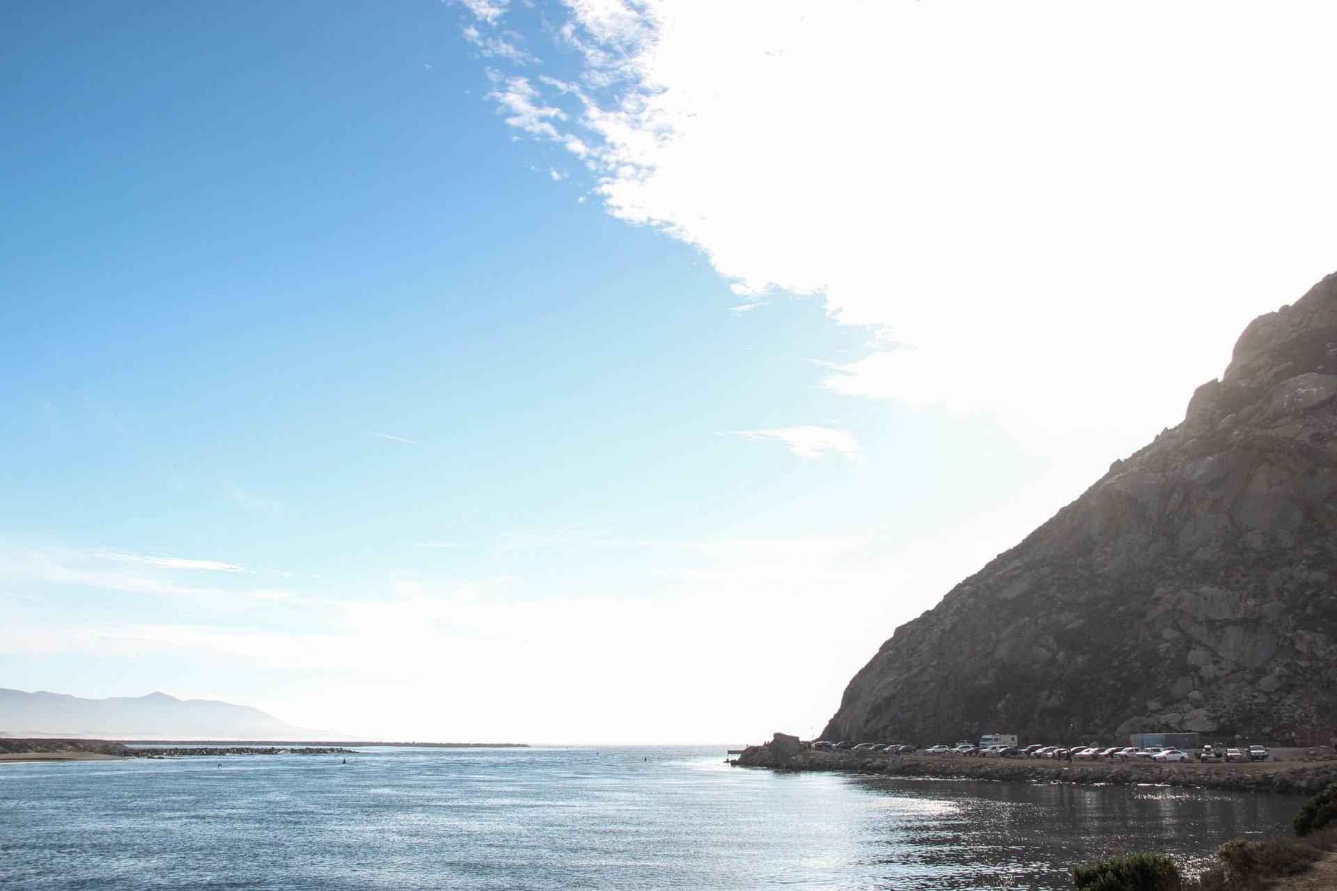 Water And Coast Near Morro Bay Rock