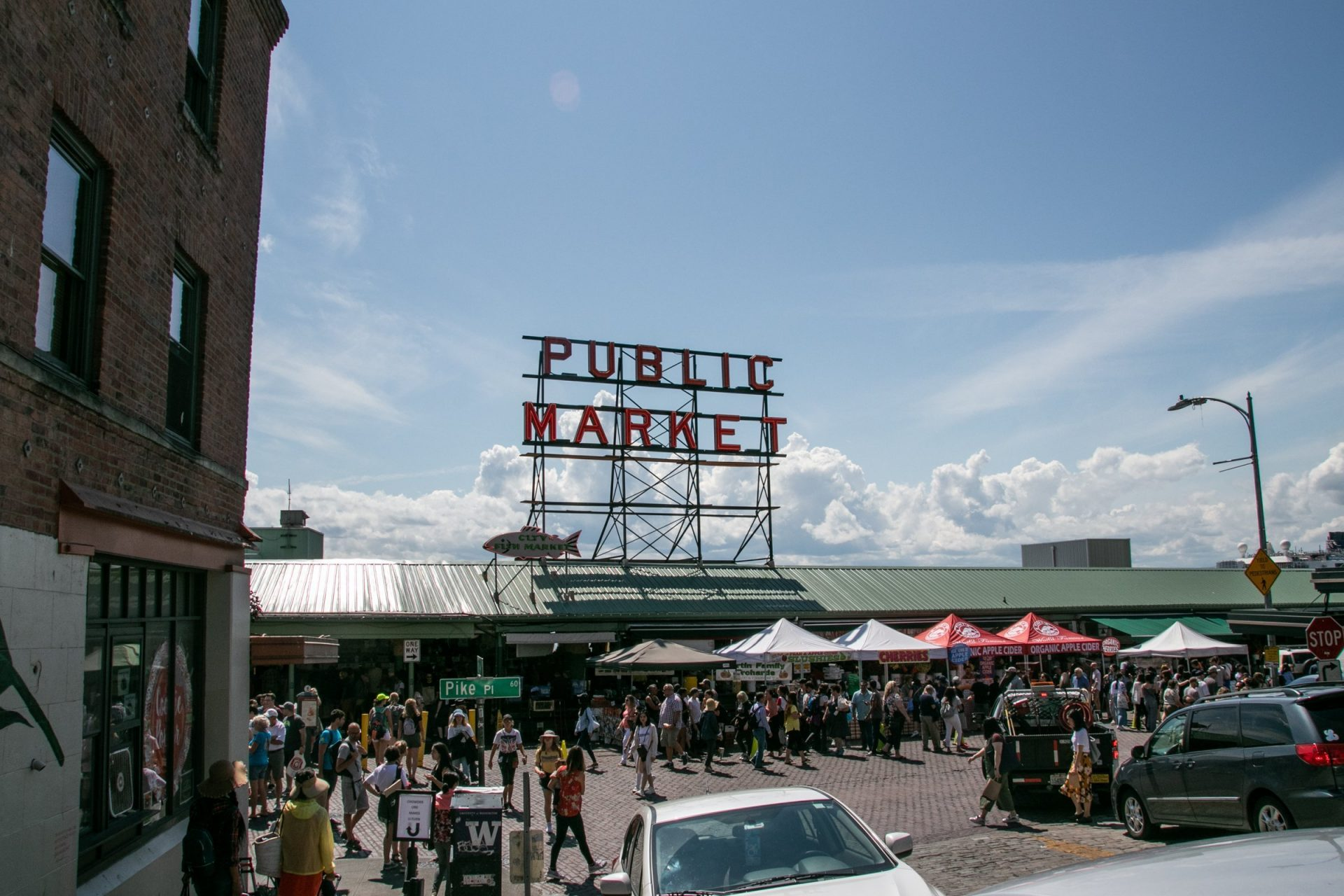 Crowd At Pike Place Public Market