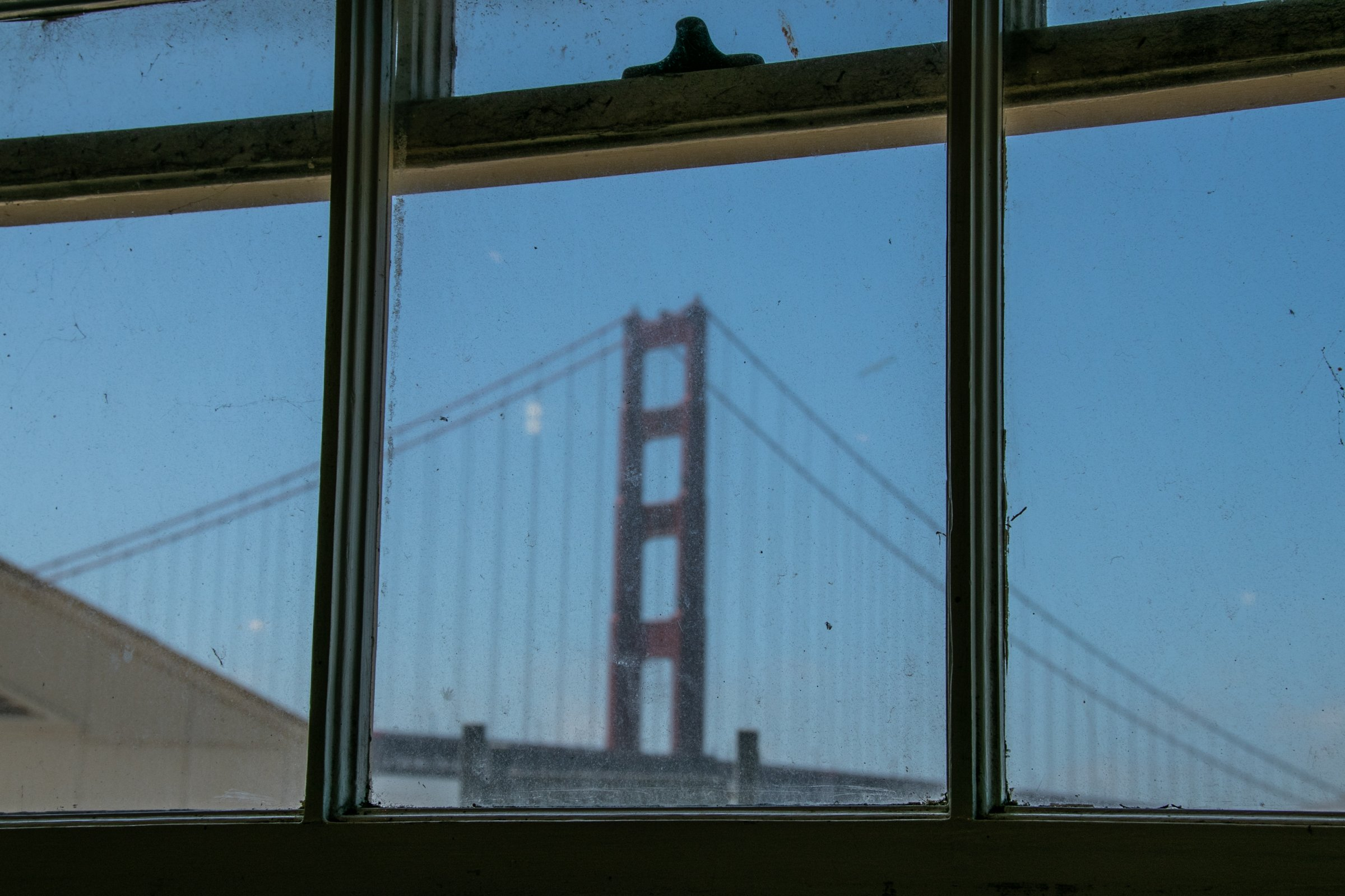 Golden Gate Bridge Through Window Panes