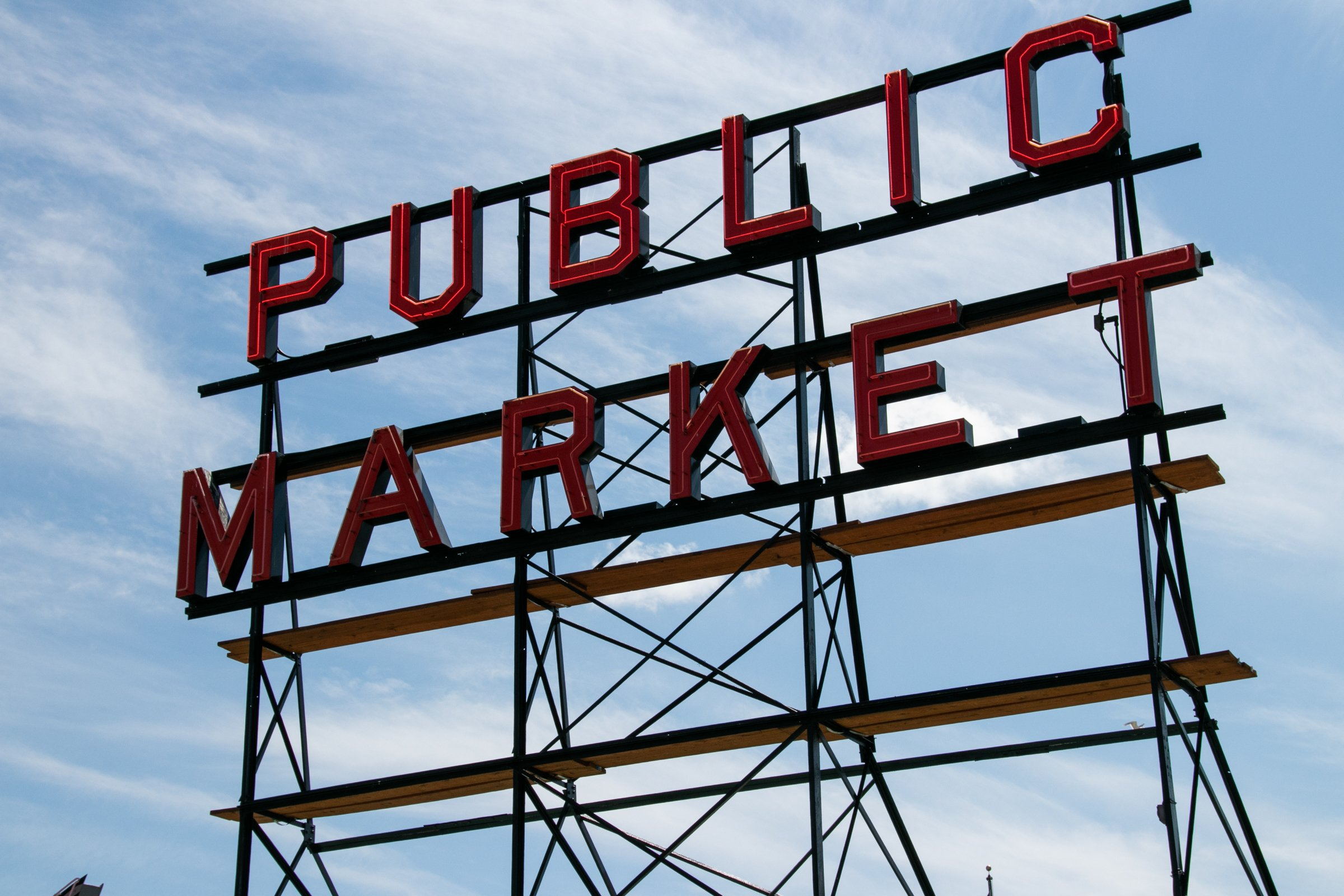 Pike Place Public Market Neon Sign