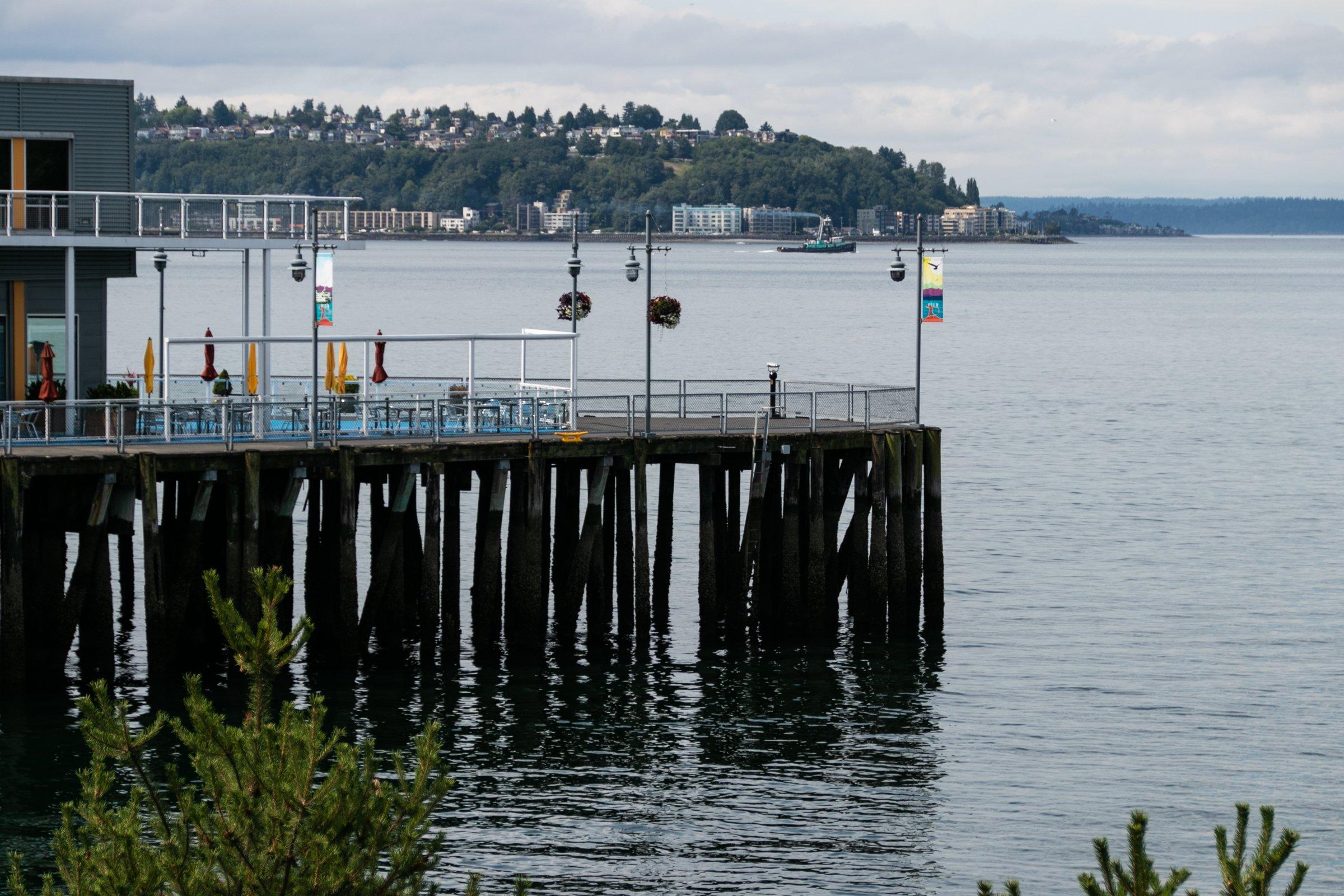Wooden Pier Of Seaside Restaurant