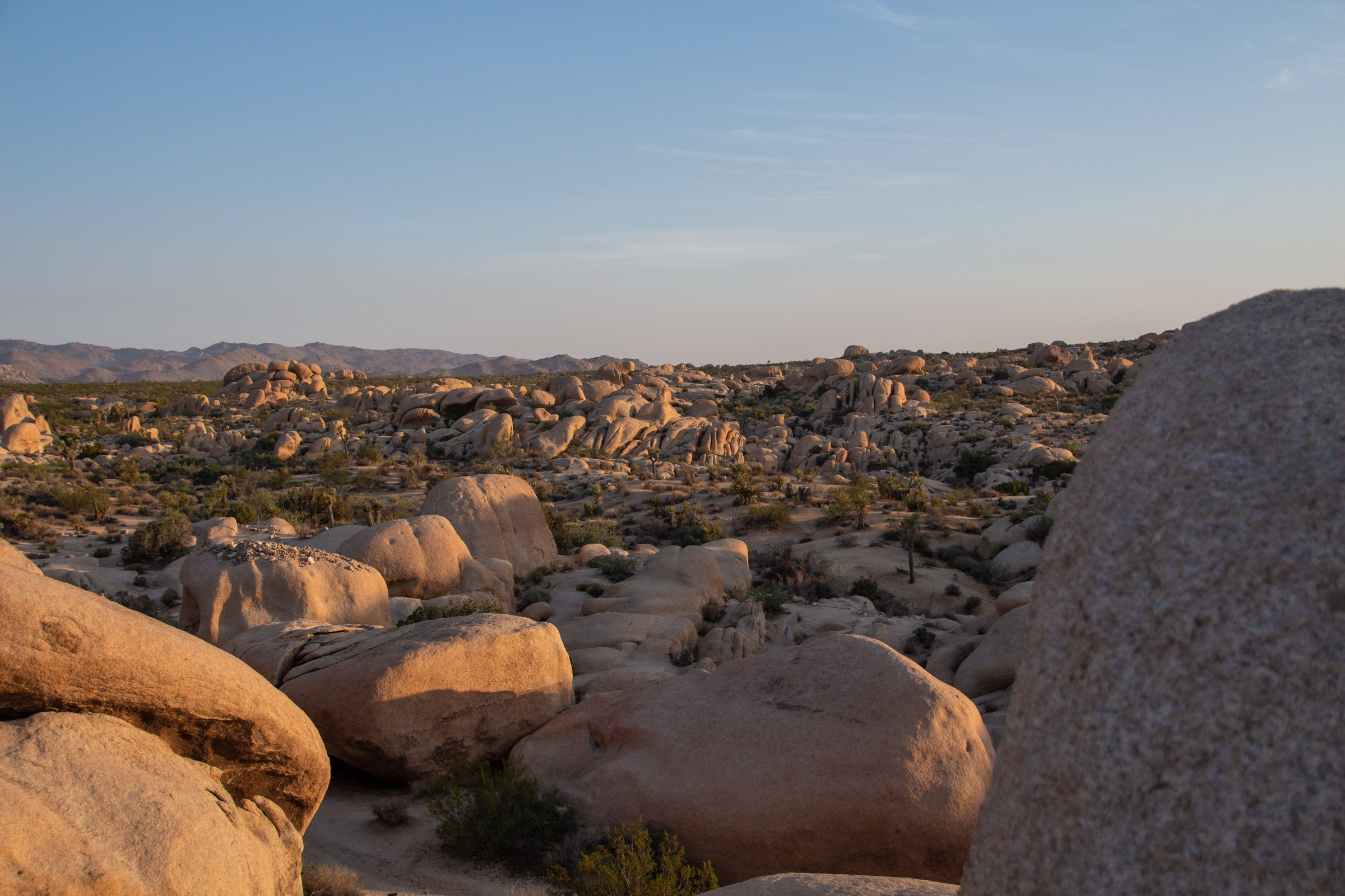 Different Sized Boulders In Joshua Tree National Park
