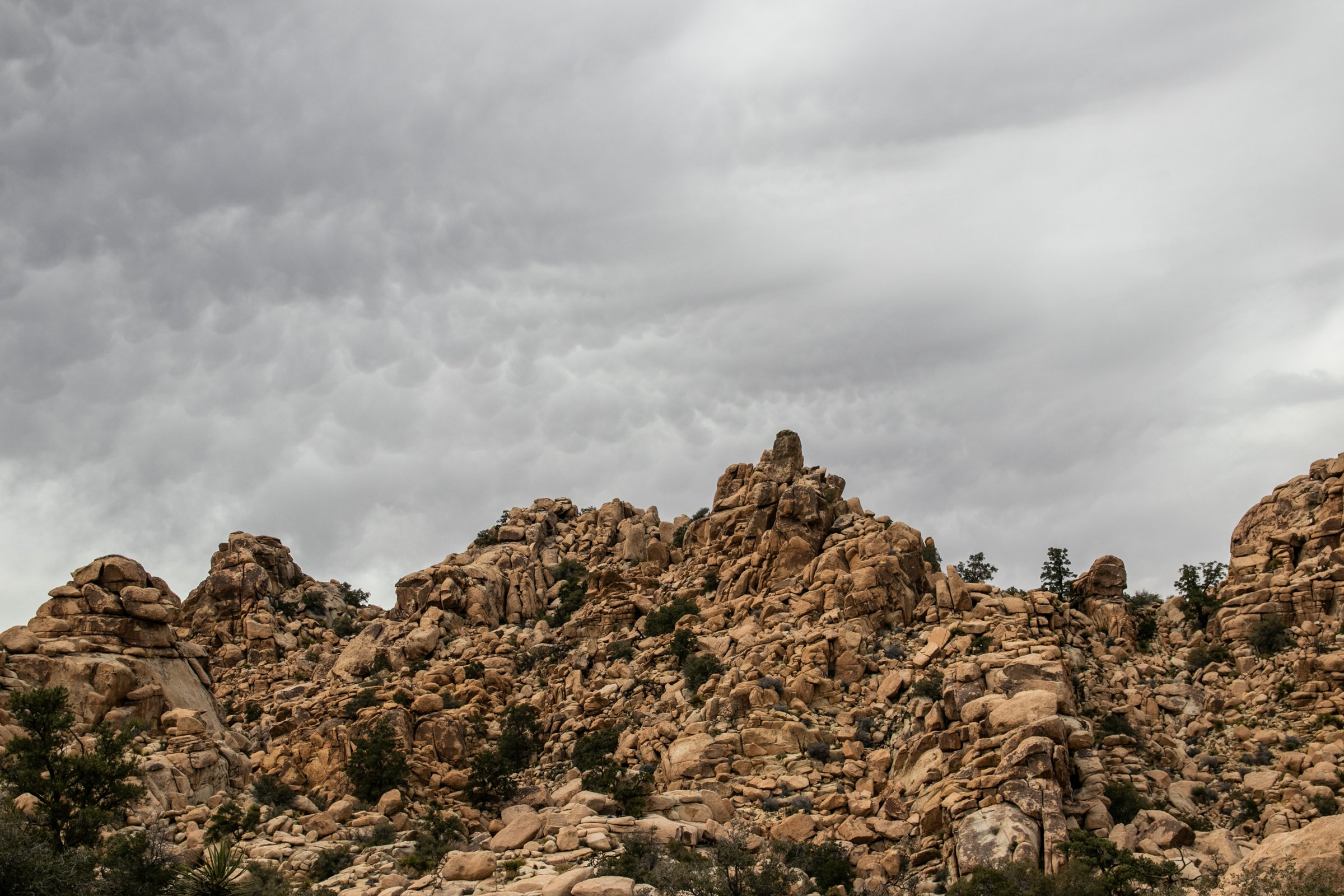 Gray Clouds Above Rock Mountain