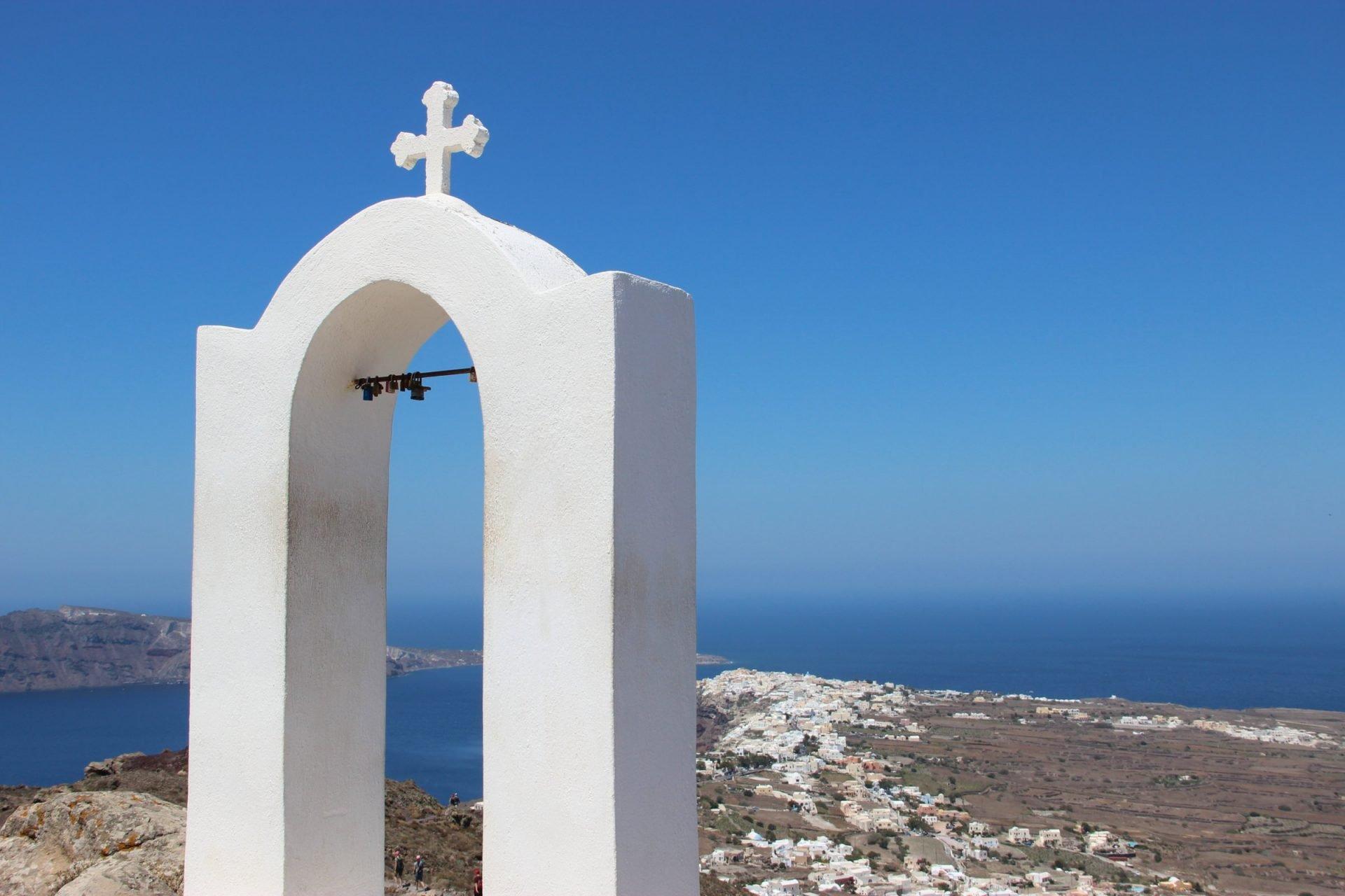 Locks In Church Gable In Island