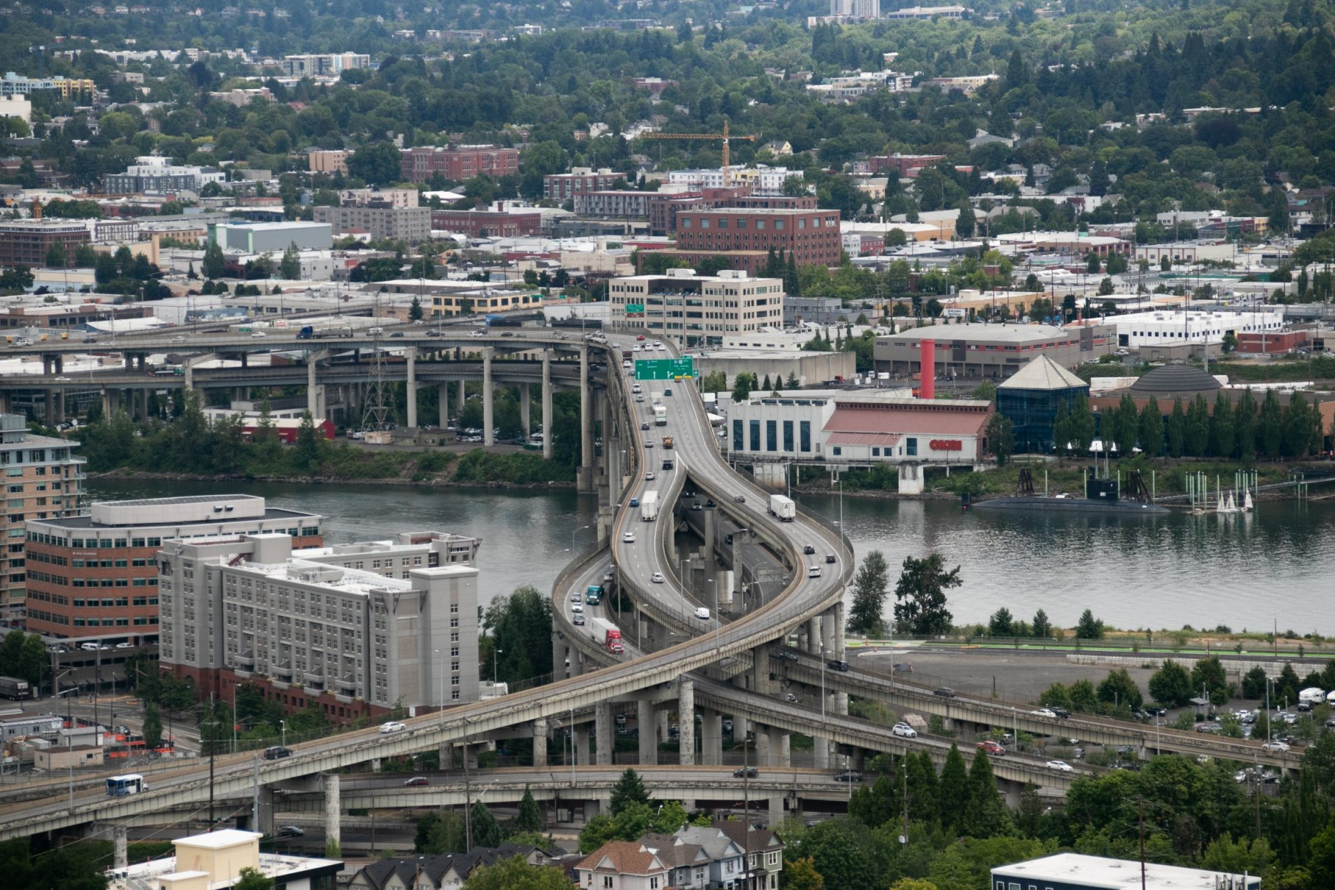 Stack Interchange Near River In City