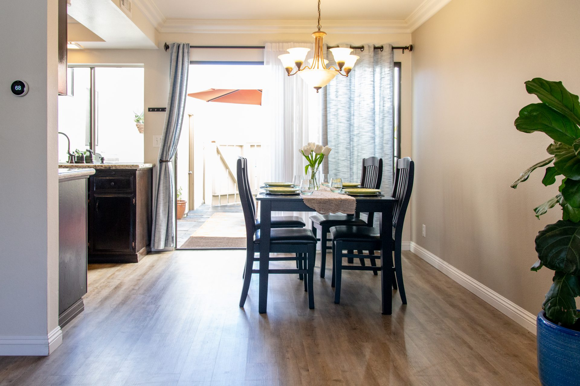 Table And Chairs In Dining Space