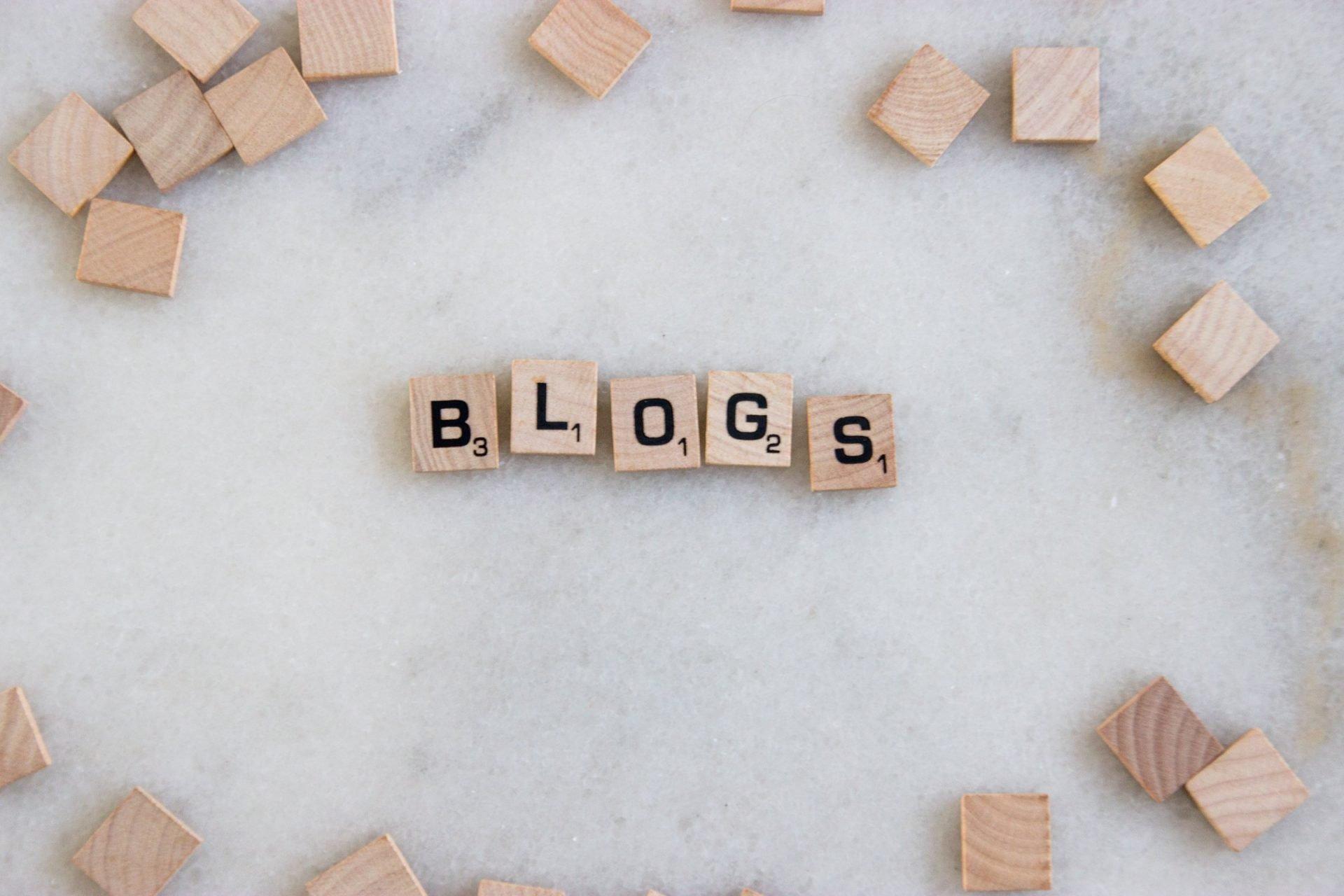 Word Blogs In Scrabble Tiles