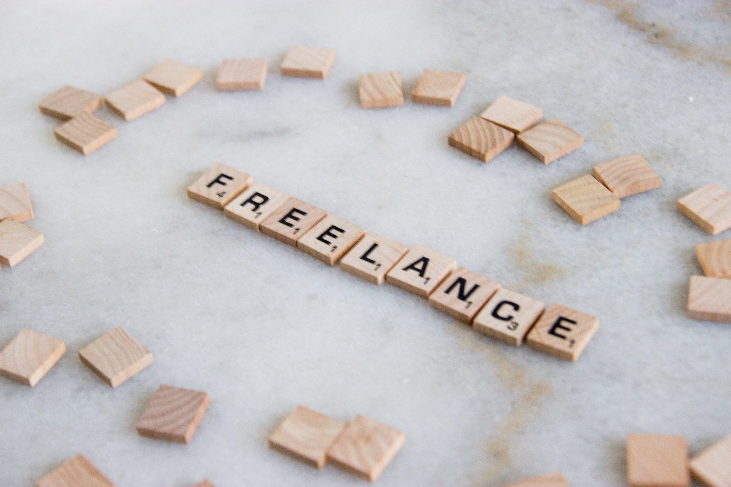 Word Freelance In Scrabble Tiles