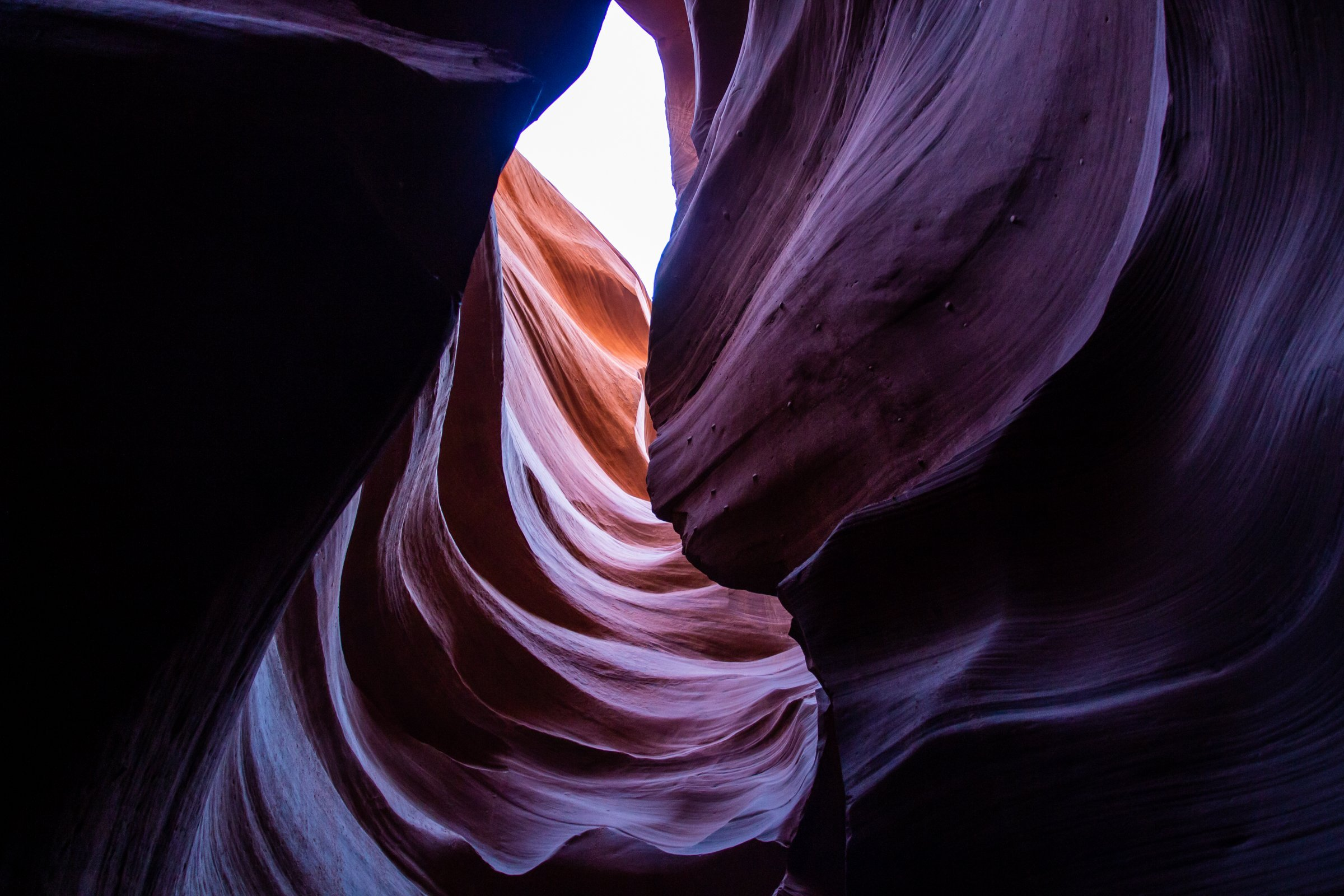 Textured Folds Of Antelope Canyon Corridors