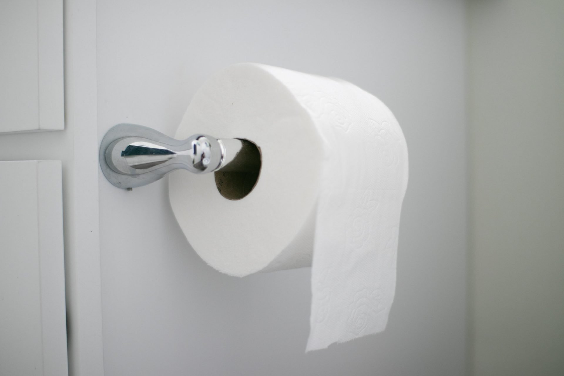 Toilet Paper Roll On Mounted Holder